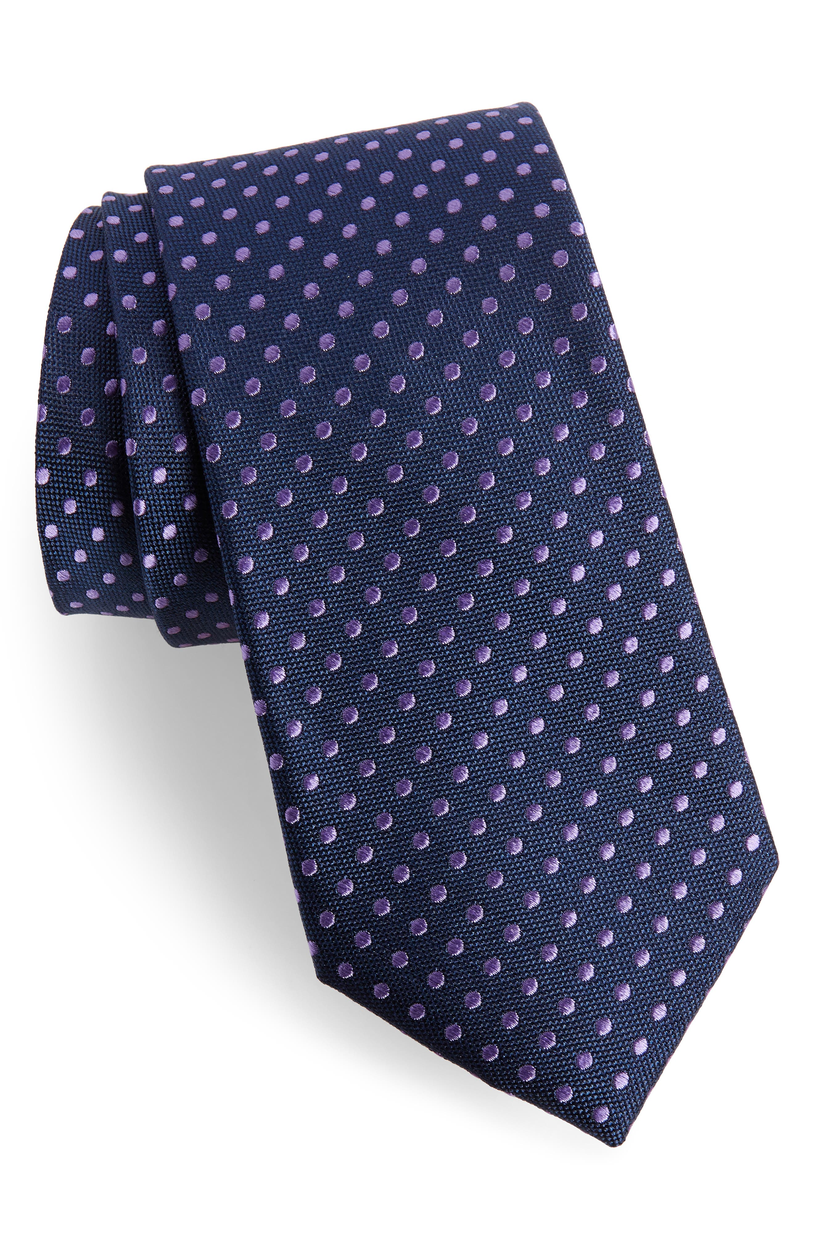 Norton Dot Silk Tie,                             Main thumbnail 3, color,