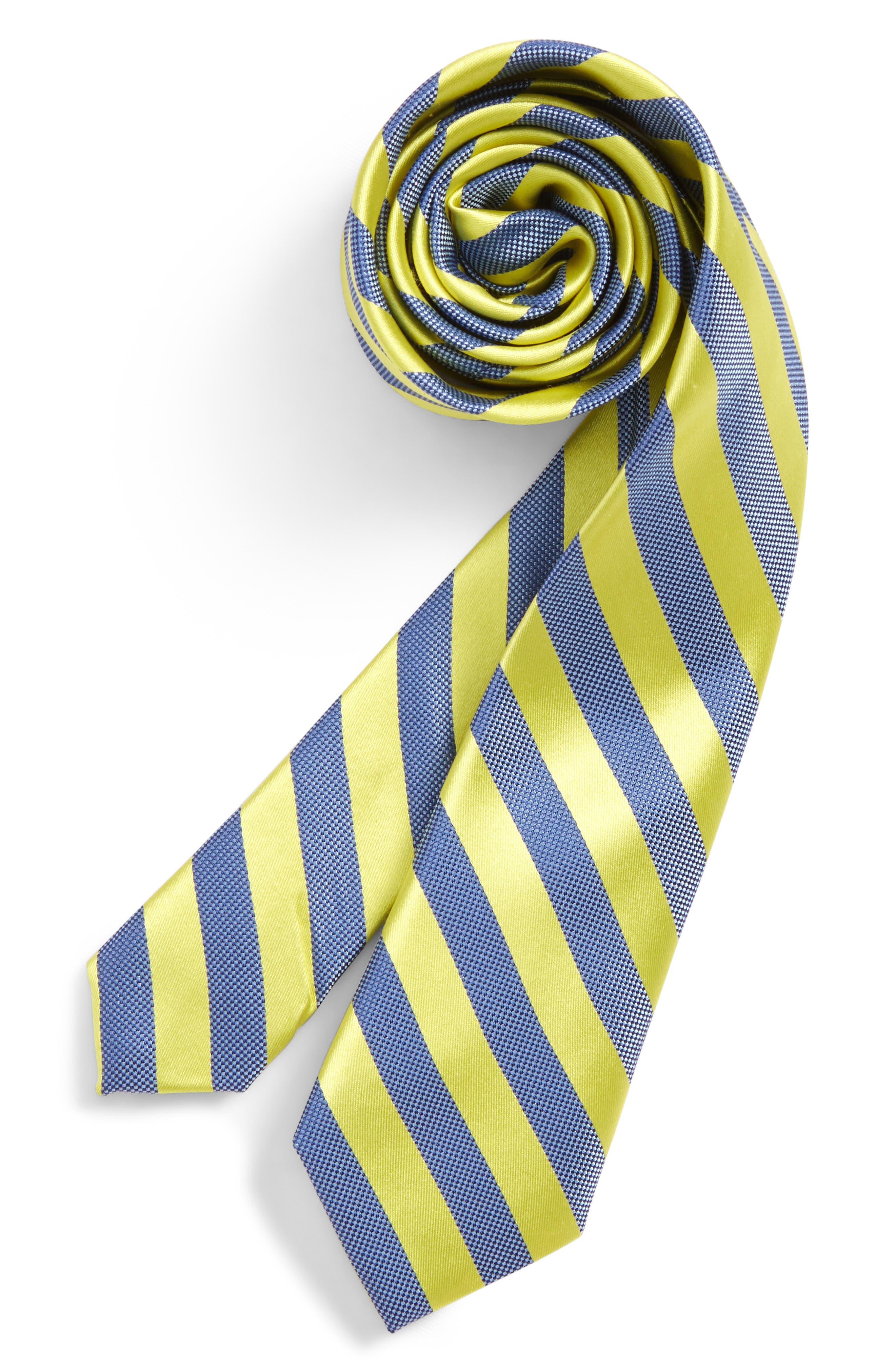 Stripe Silk Tie,                         Main,                         color, 736