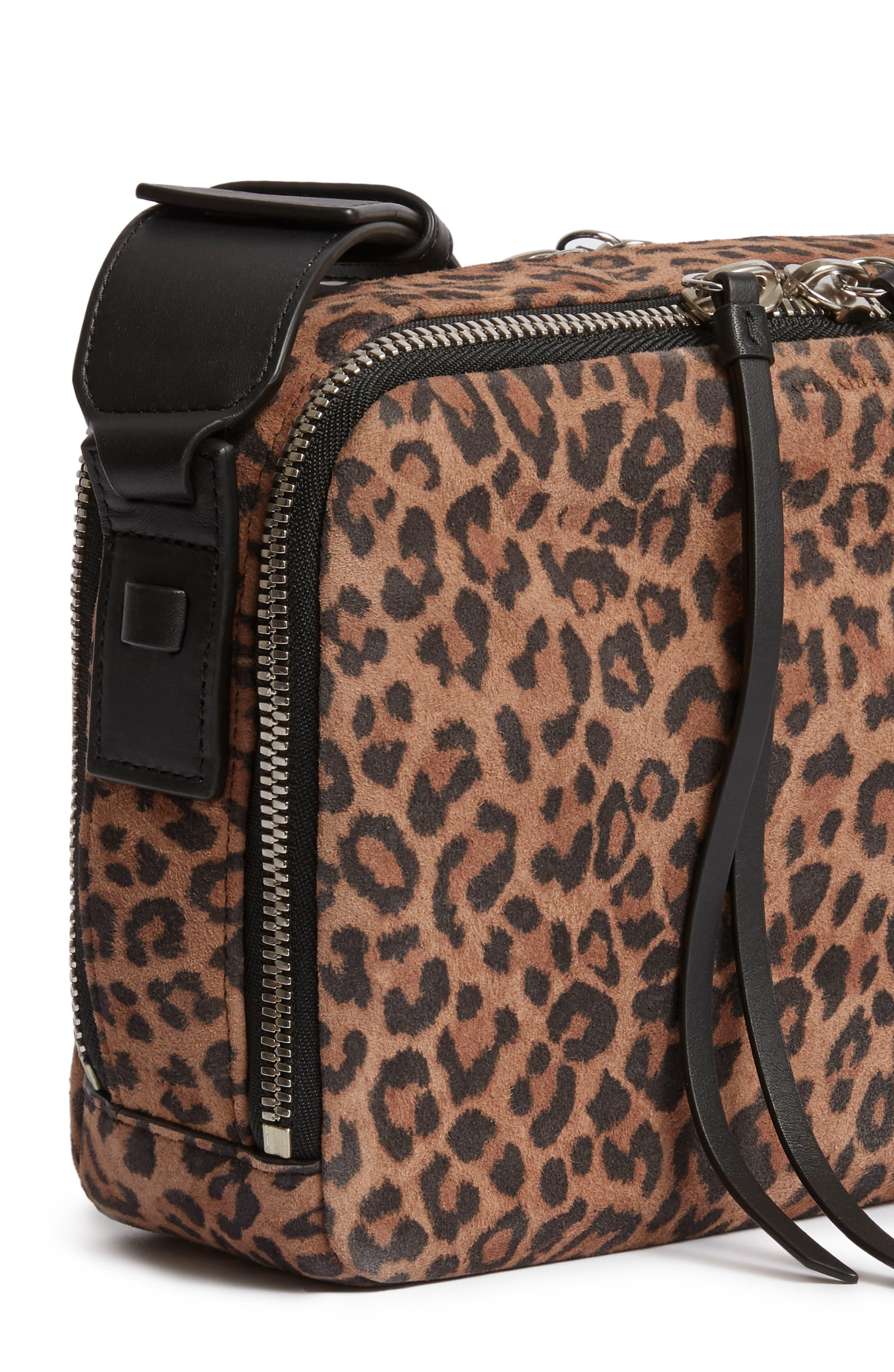 Vincent Leather Crossbody Bag,                             Alternate thumbnail 7, color,                             LEOPARD/ BLACK