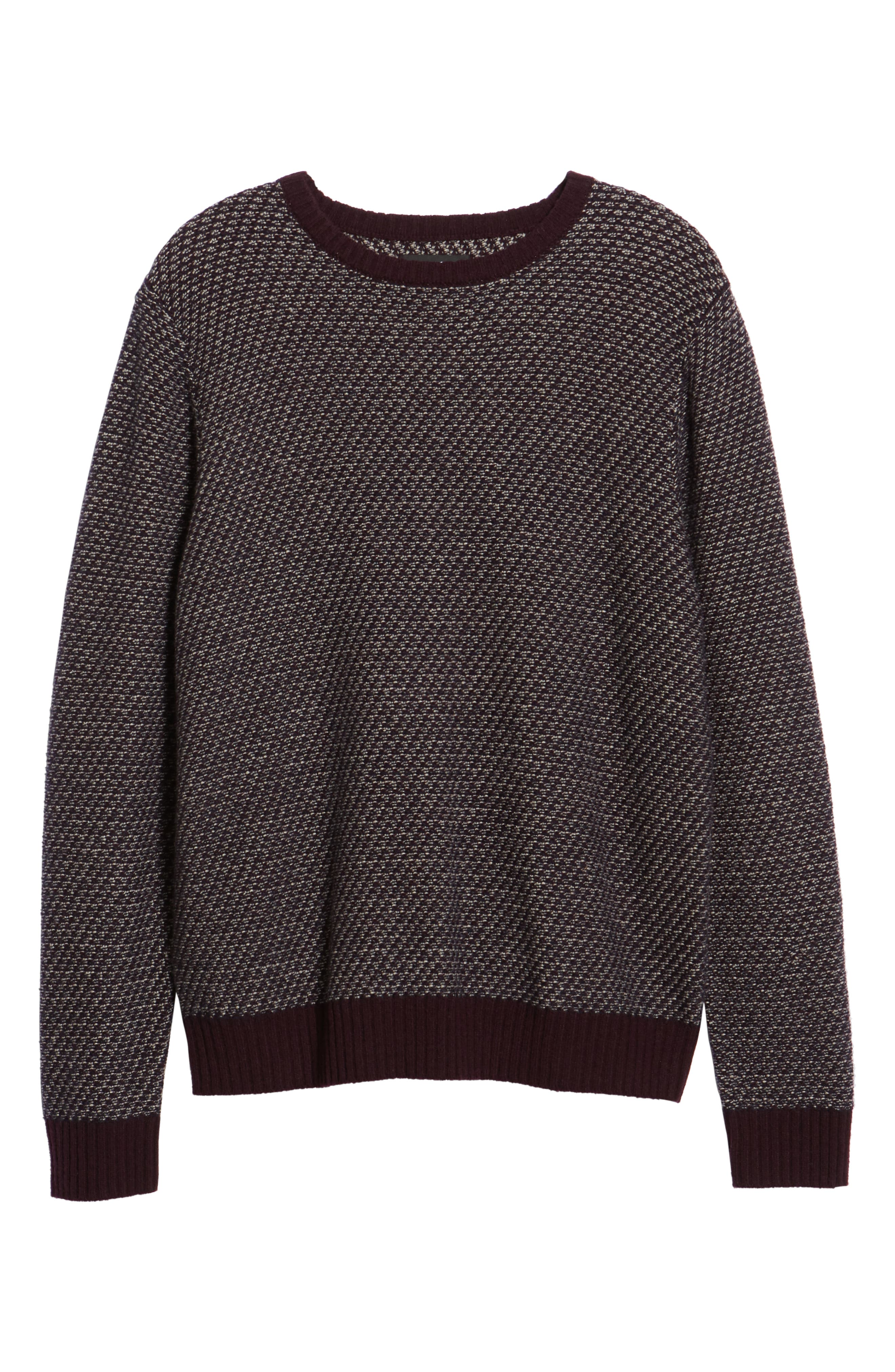 Jacquard Wool & Cashmere Sweater,                             Alternate thumbnail 6, color,                             938