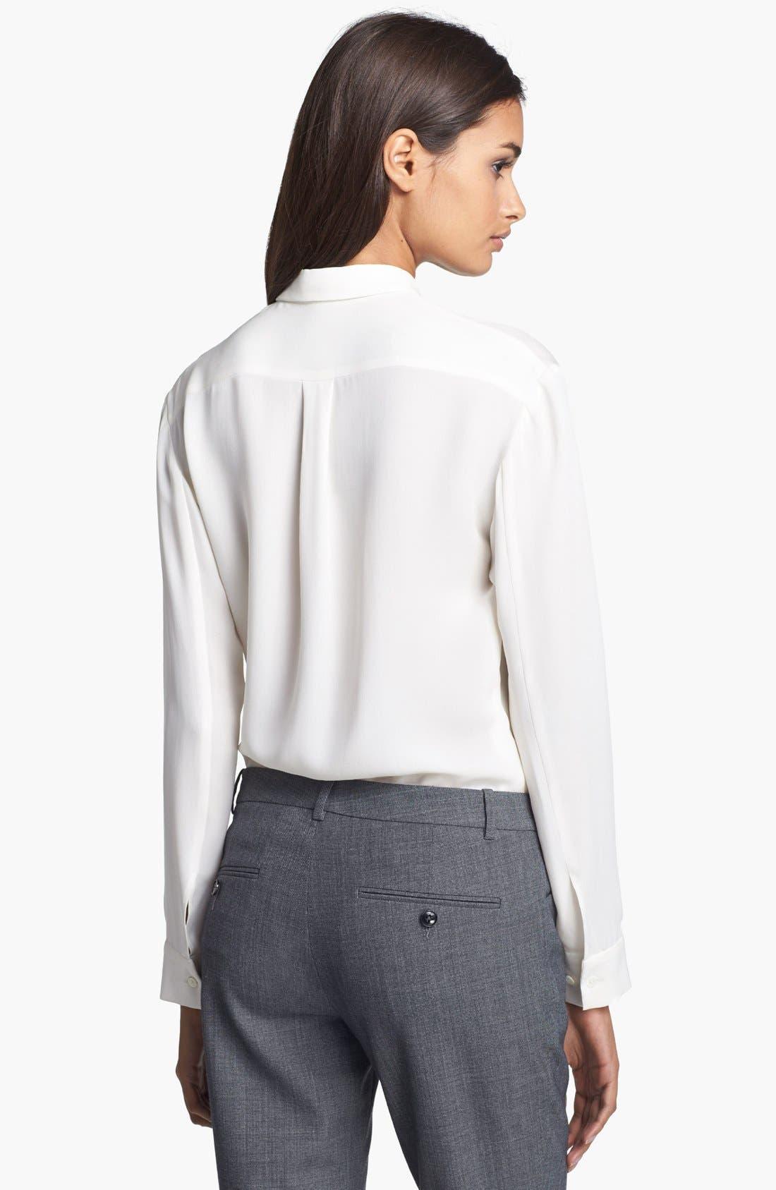 'Driya' Silk Shirt,                             Alternate thumbnail 2, color,                             100