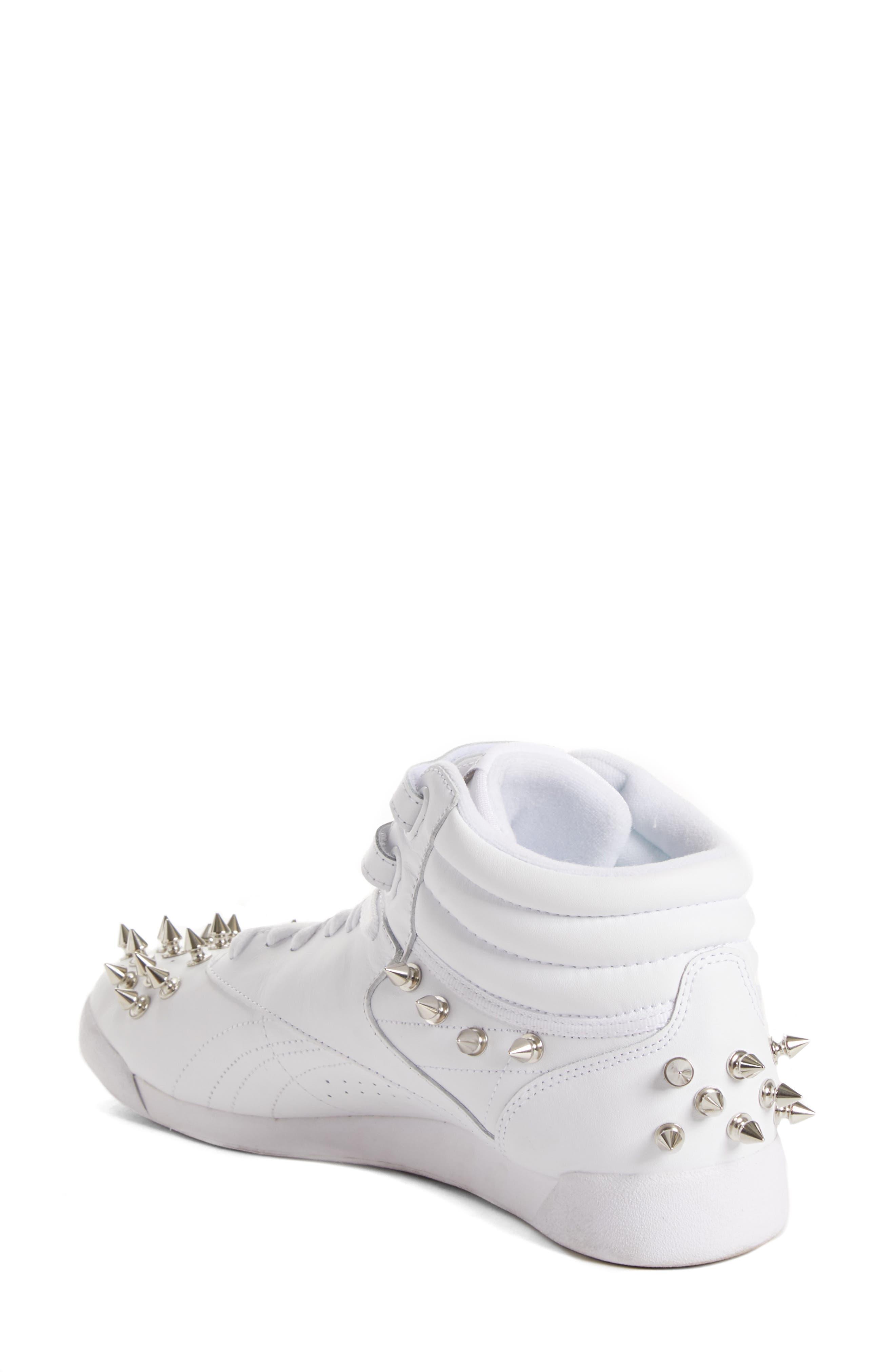 x Reebok Studded Sneaker,                             Alternate thumbnail 2, color,                             WHITE