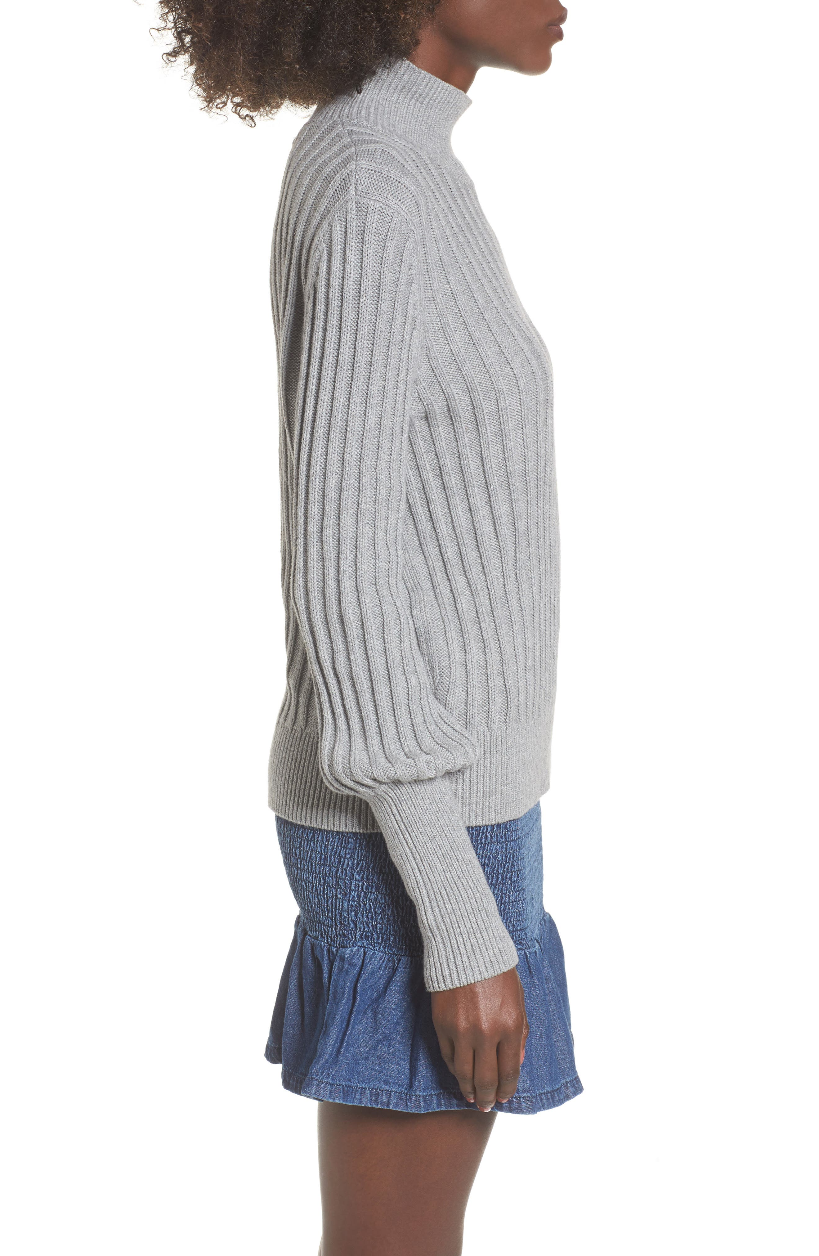 Galactic Puff Sleeve Sweater,                             Alternate thumbnail 3, color,                             051
