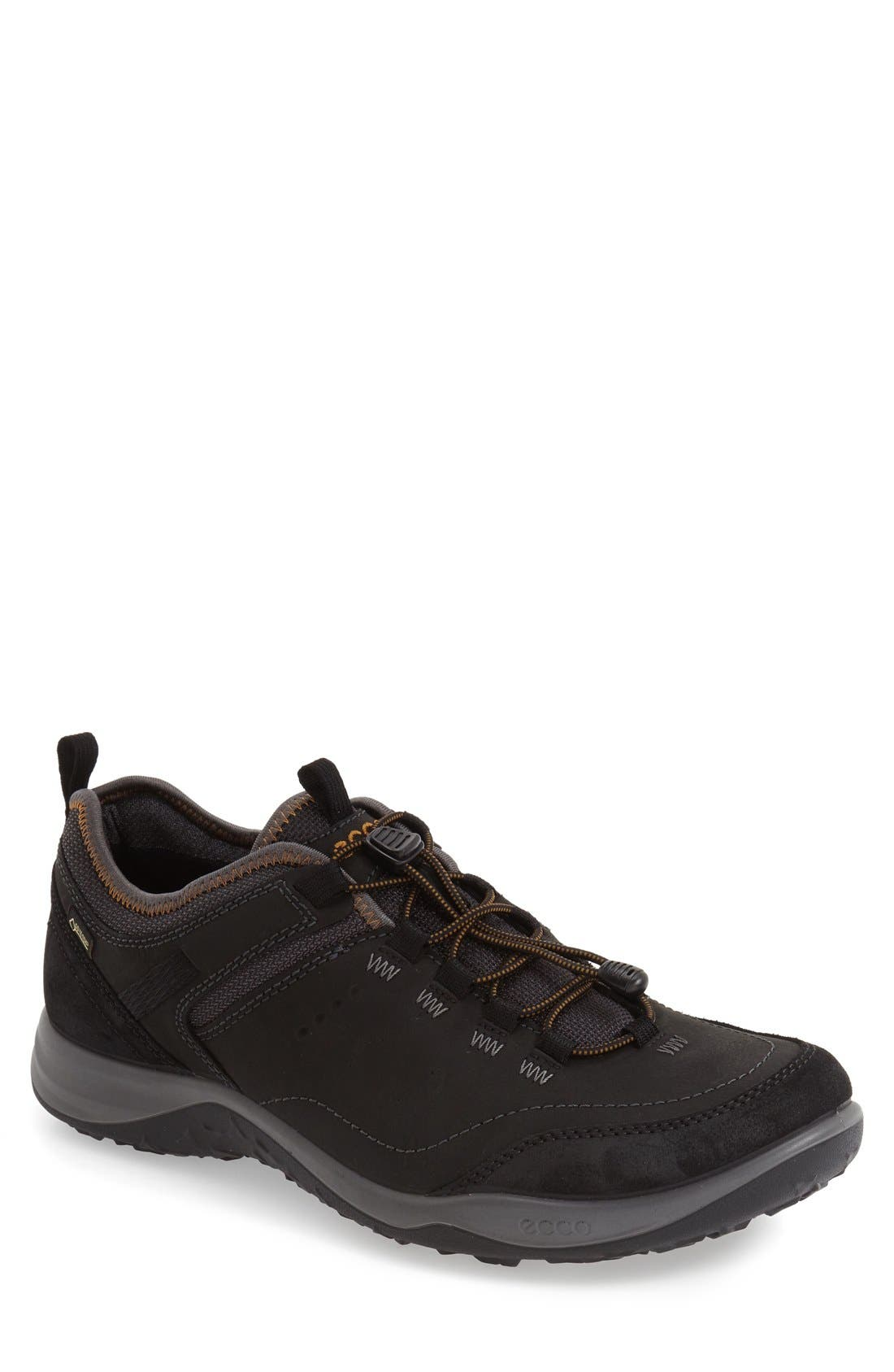 'Espinho GTX' Sneaker,                             Main thumbnail 1, color,                             BLACK LEATHER