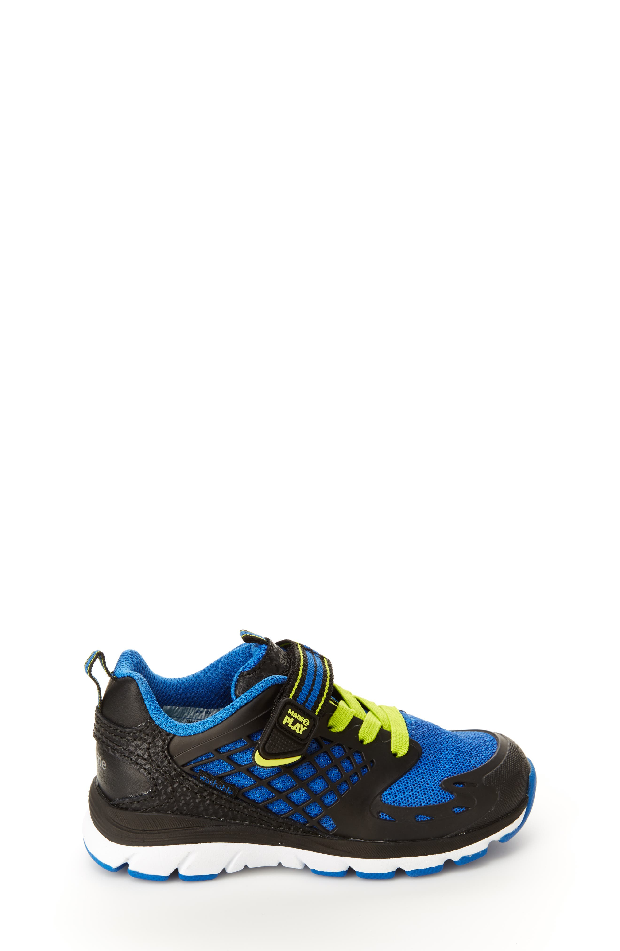 Made 2 Play Breccen Sneaker,                             Alternate thumbnail 2, color,                             BLACK/ LIME