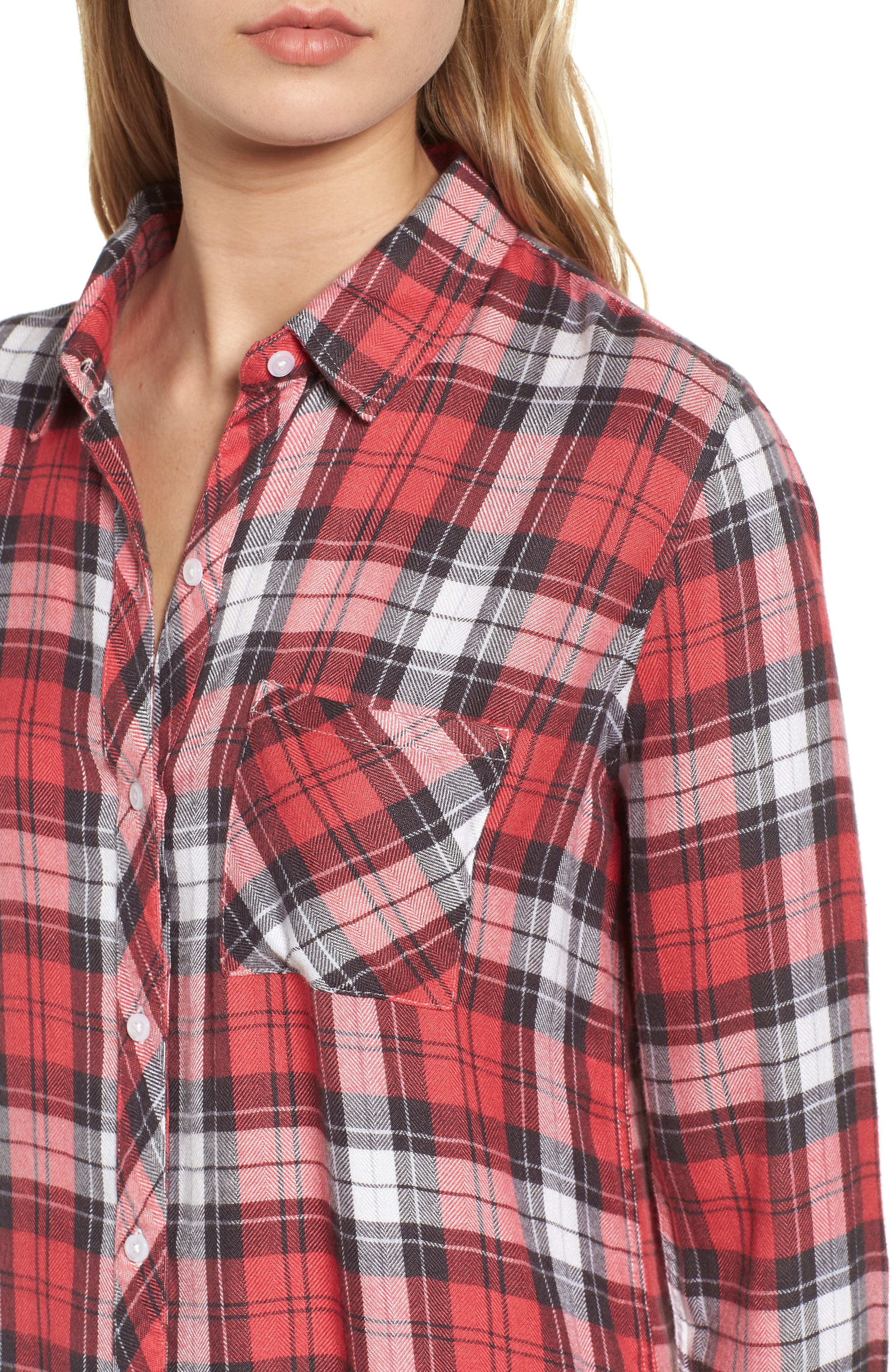 Hunter Plaid Shirt,                             Alternate thumbnail 492, color,
