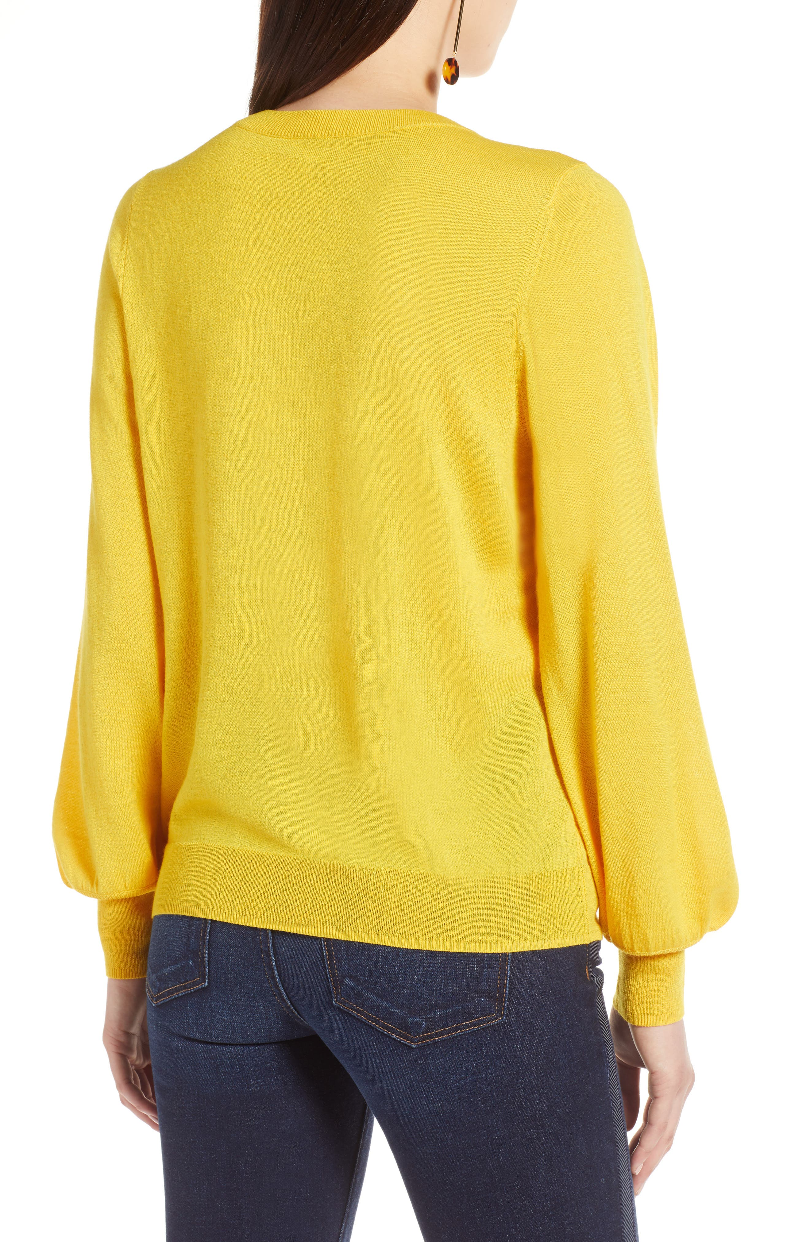 Puff Sleeve Sweater,                             Alternate thumbnail 20, color,