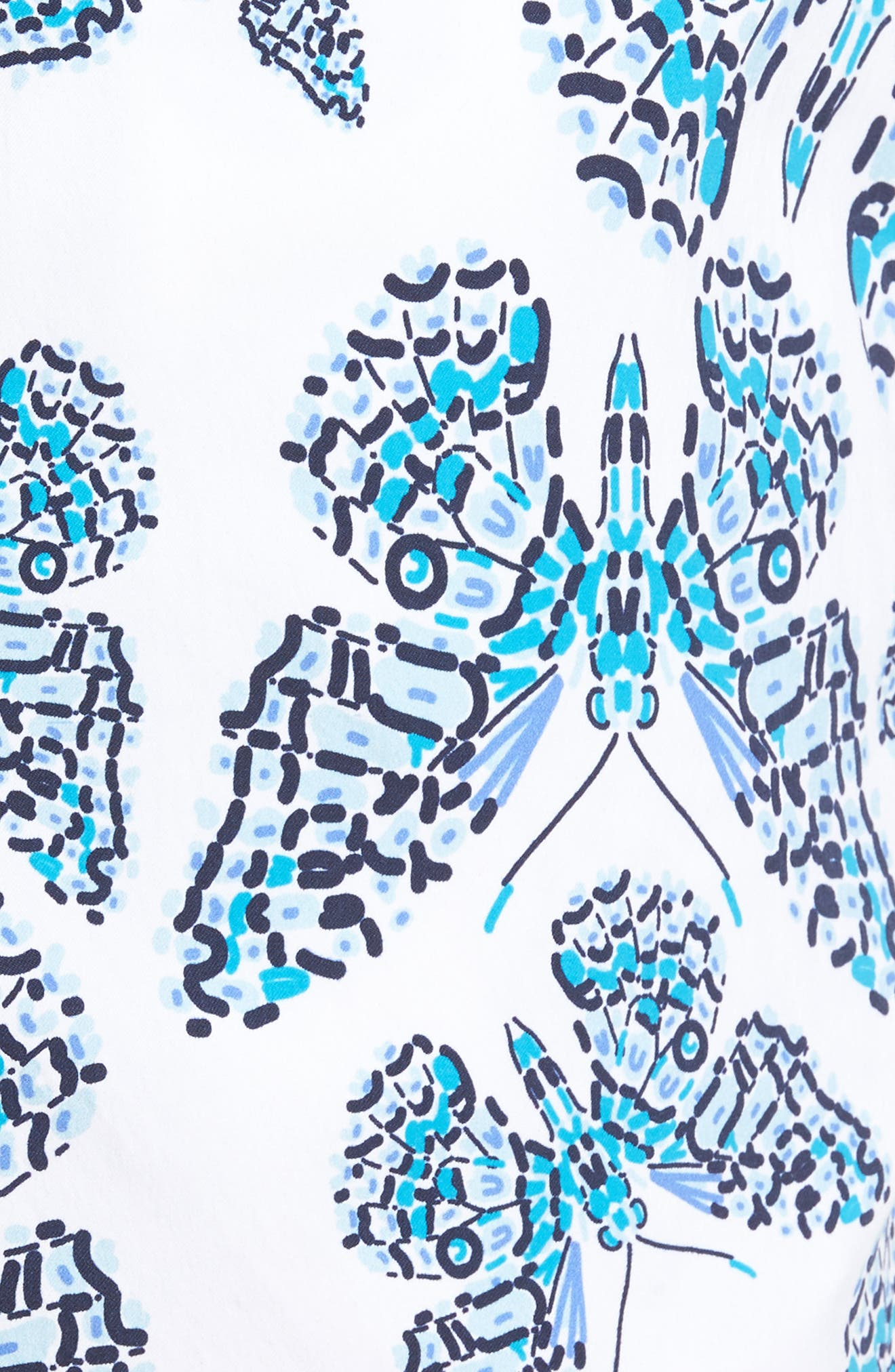 Moorise Butterflies Superflex Swim Trunks,                             Alternate thumbnail 5, color,                             AZURE