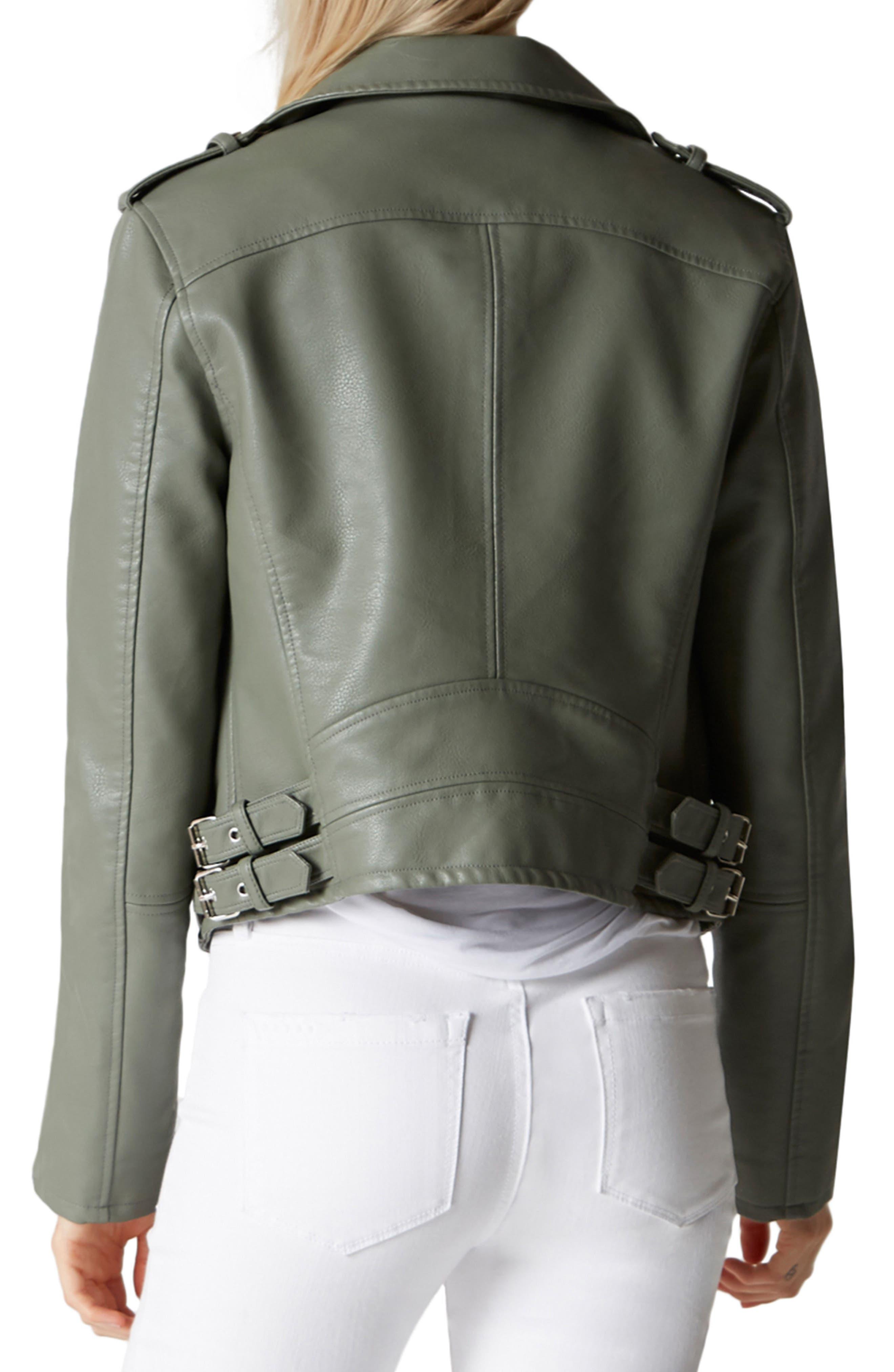 Faux Leather Moto Jacket,                             Alternate thumbnail 2, color,                             300