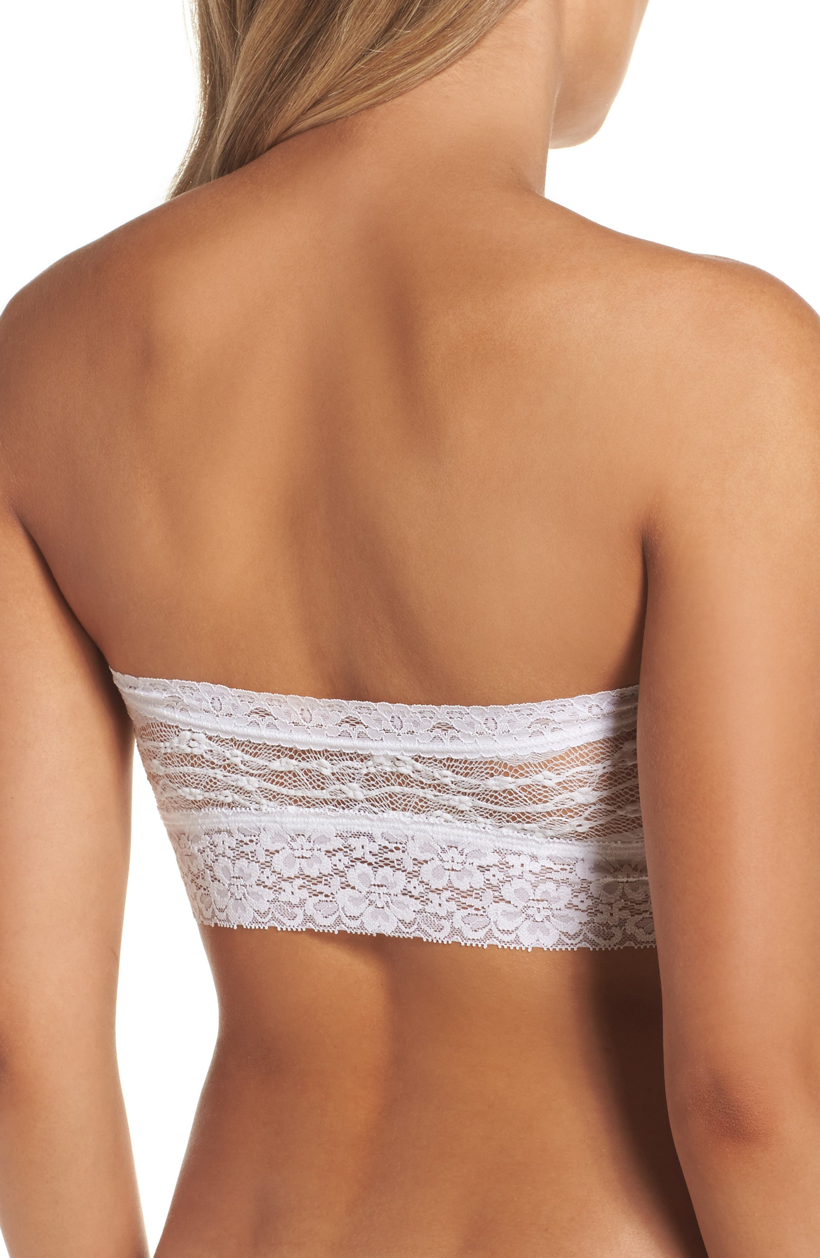 Intimately FP Lace Bandeau Bralette,                             Alternate thumbnail 3, color,                             WHITE