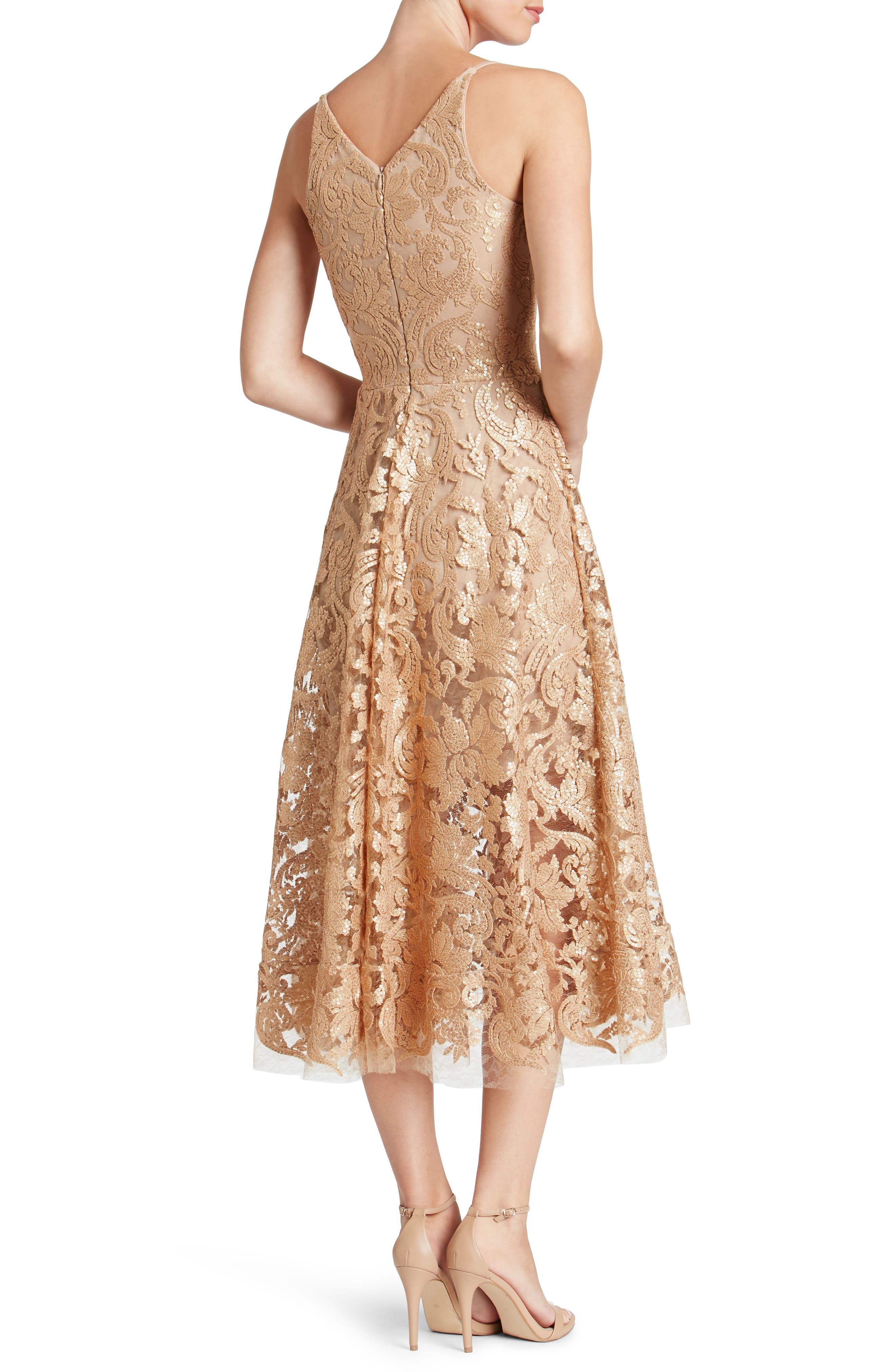 Blair Embellished Fit & Flare Dress,                             Alternate thumbnail 14, color,
