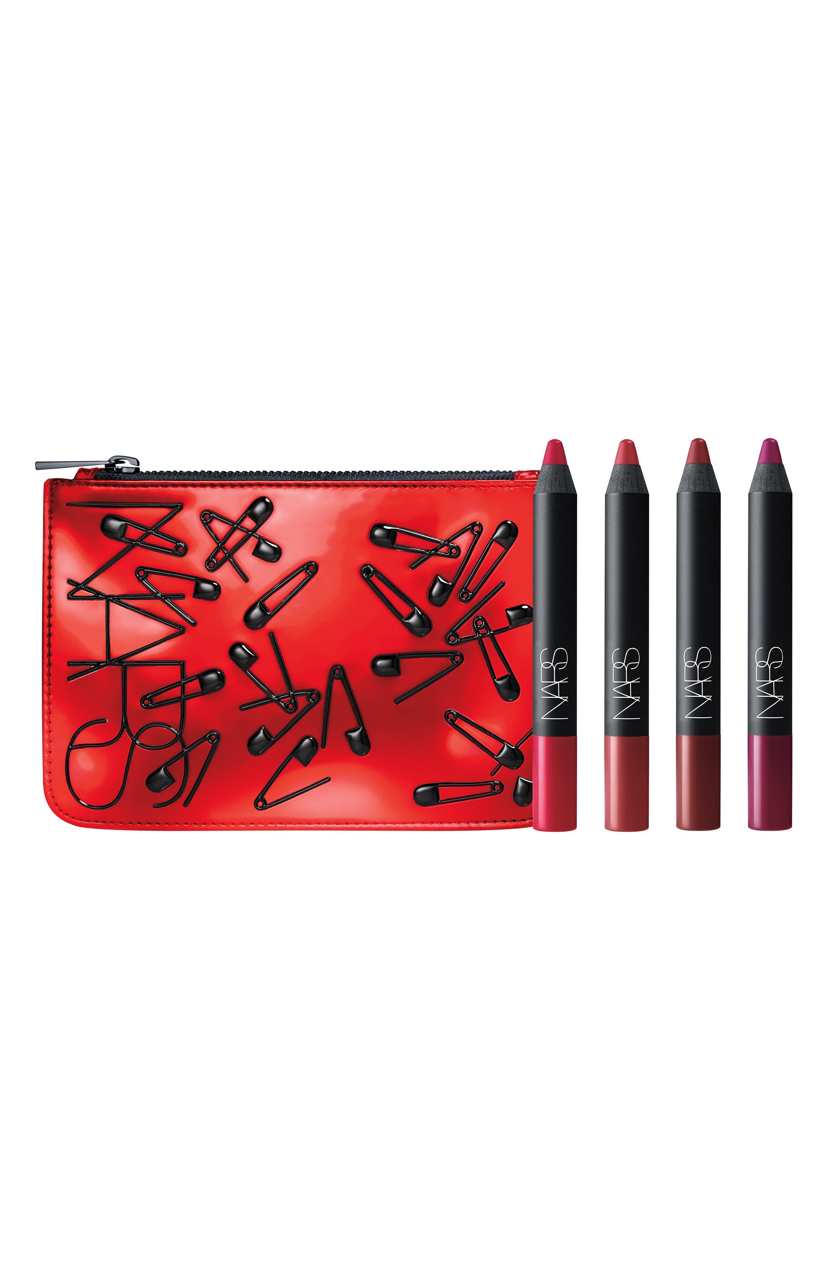 Riot Velvet Matte Lip Pencil Set,                         Main,                         color, 600