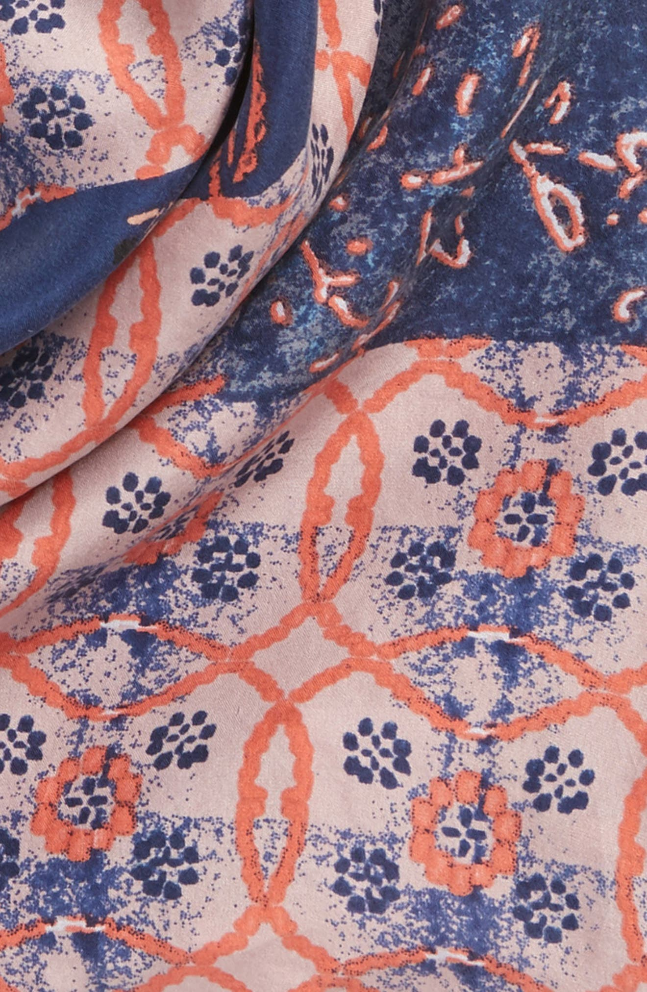 Paisley Meadow Square Silk Scarf,                             Alternate thumbnail 4, color,                             420