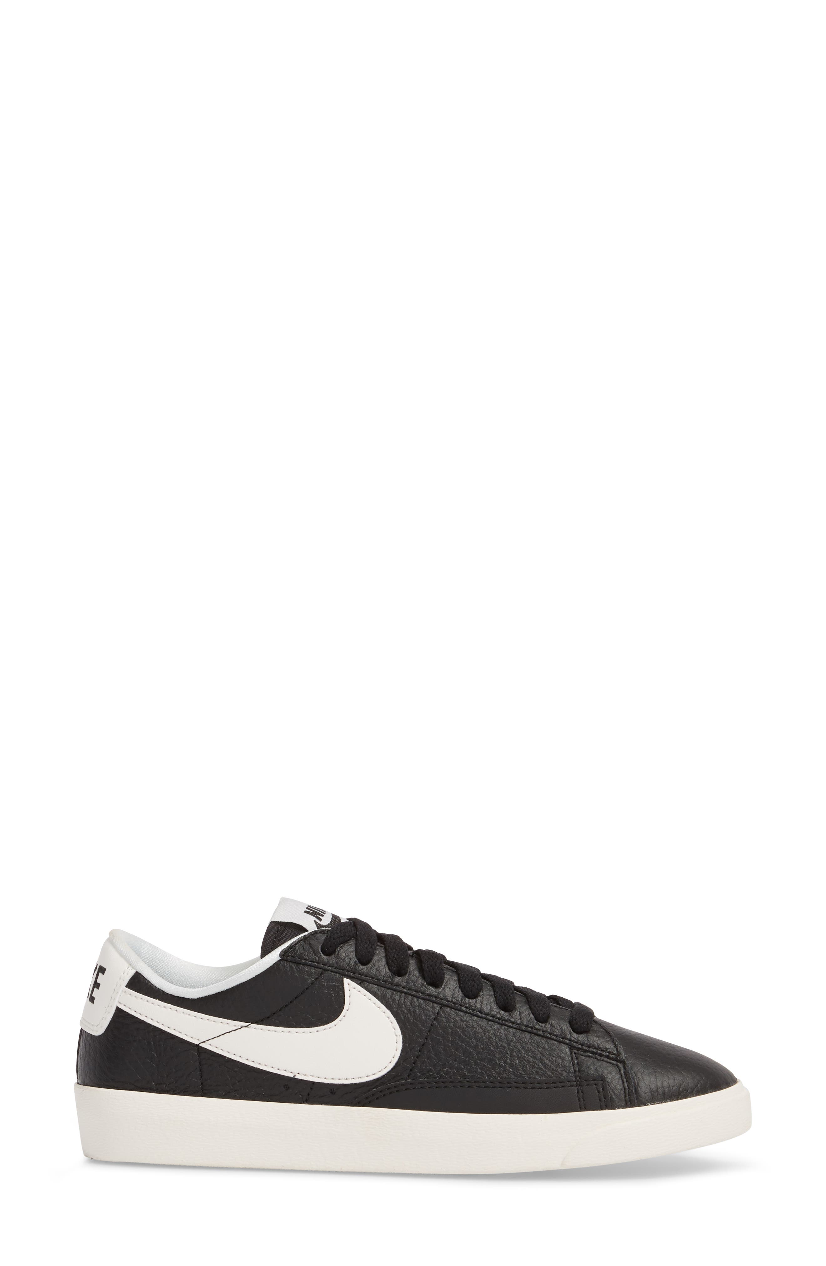 Blazer Premium Low Sneaker,                             Alternate thumbnail 3, color,                             BLACK/ WHITE/ BLACK
