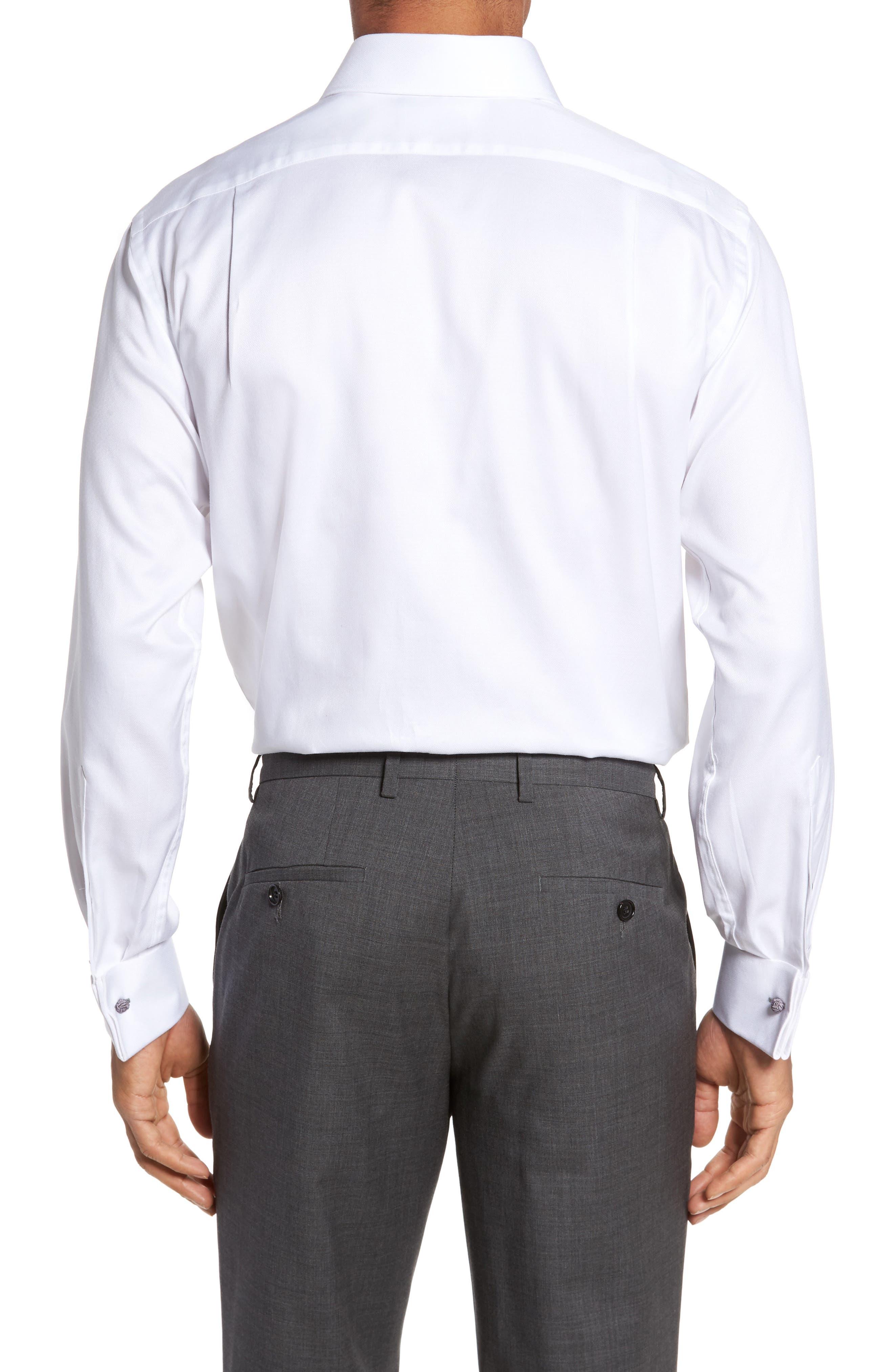 Trim Fit Solid Dress Shirt,                             Alternate thumbnail 2, color,