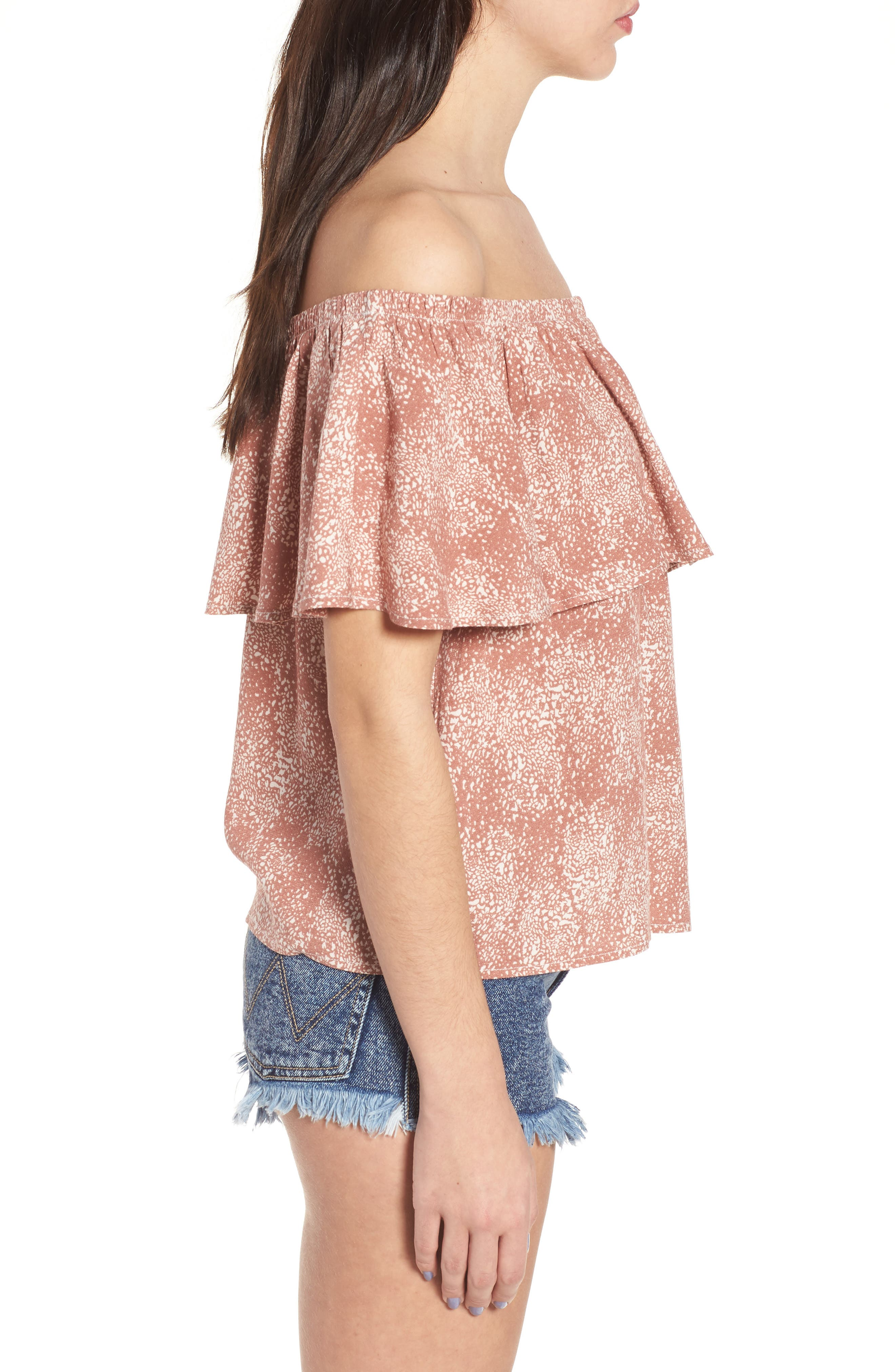 Mary Off the Shoulder Top,                             Alternate thumbnail 7, color,