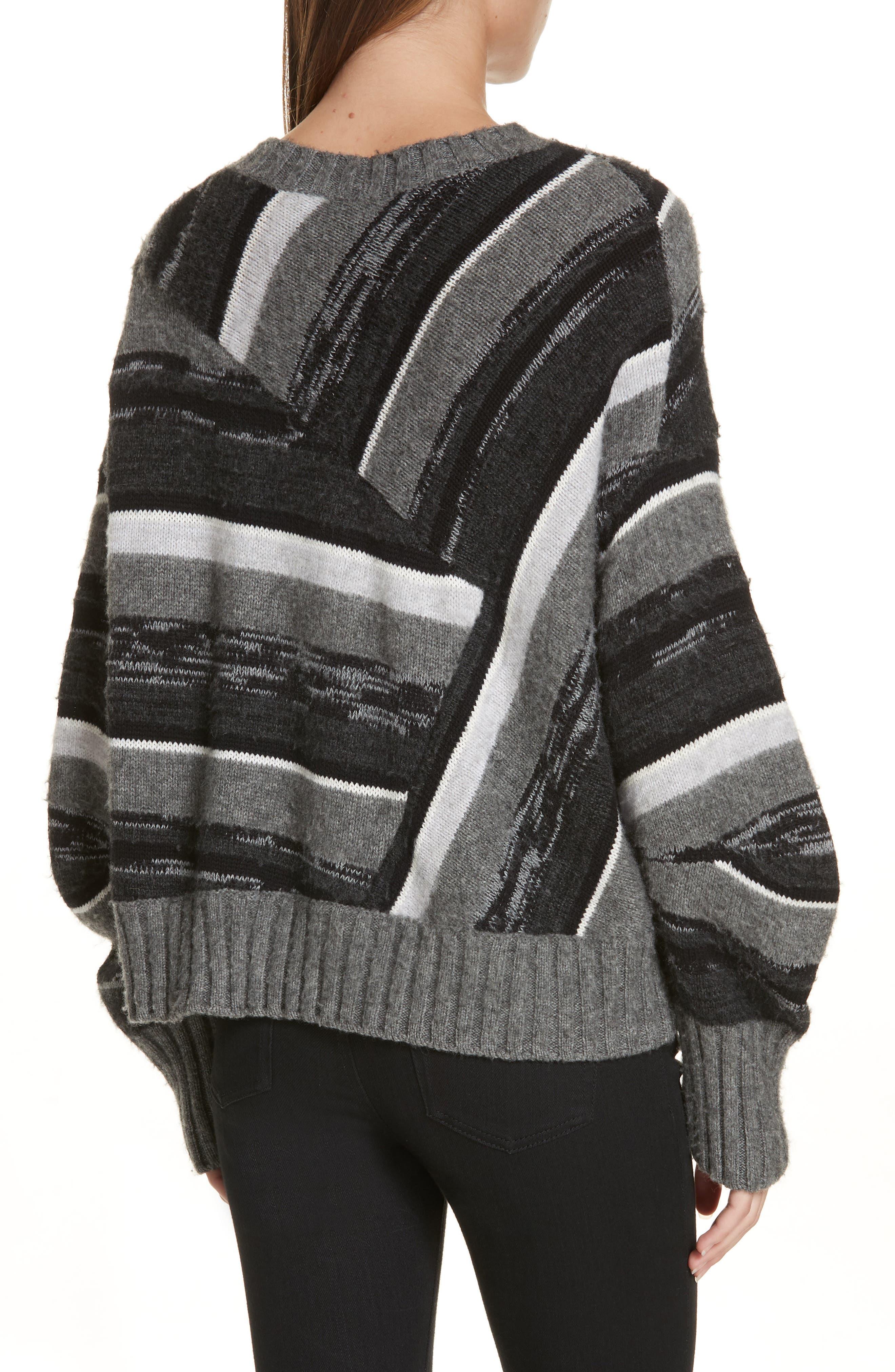 Wool Blend Ombré Stripe Sweater,                             Alternate thumbnail 2, color,                             020
