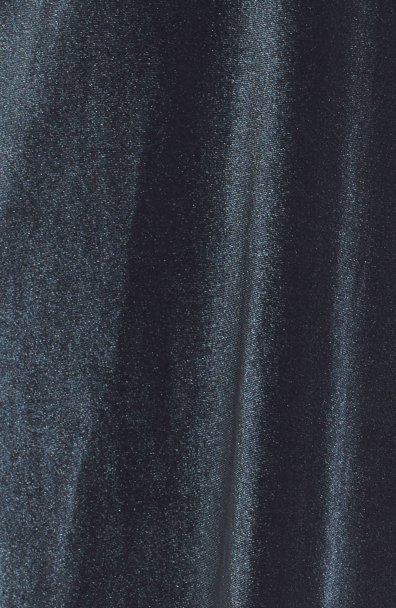 Ruffle Velvet Dress,                             Alternate thumbnail 5, color,                             302