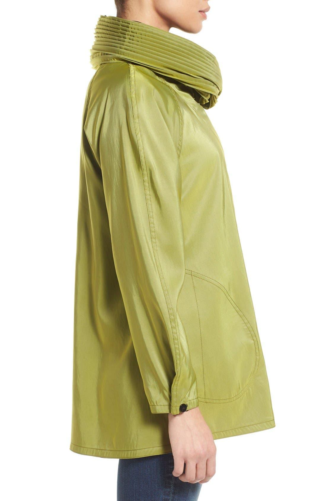 'Mini Donatella' Reversible Pleat Hood Packable Travel Coat,                             Alternate thumbnail 59, color,