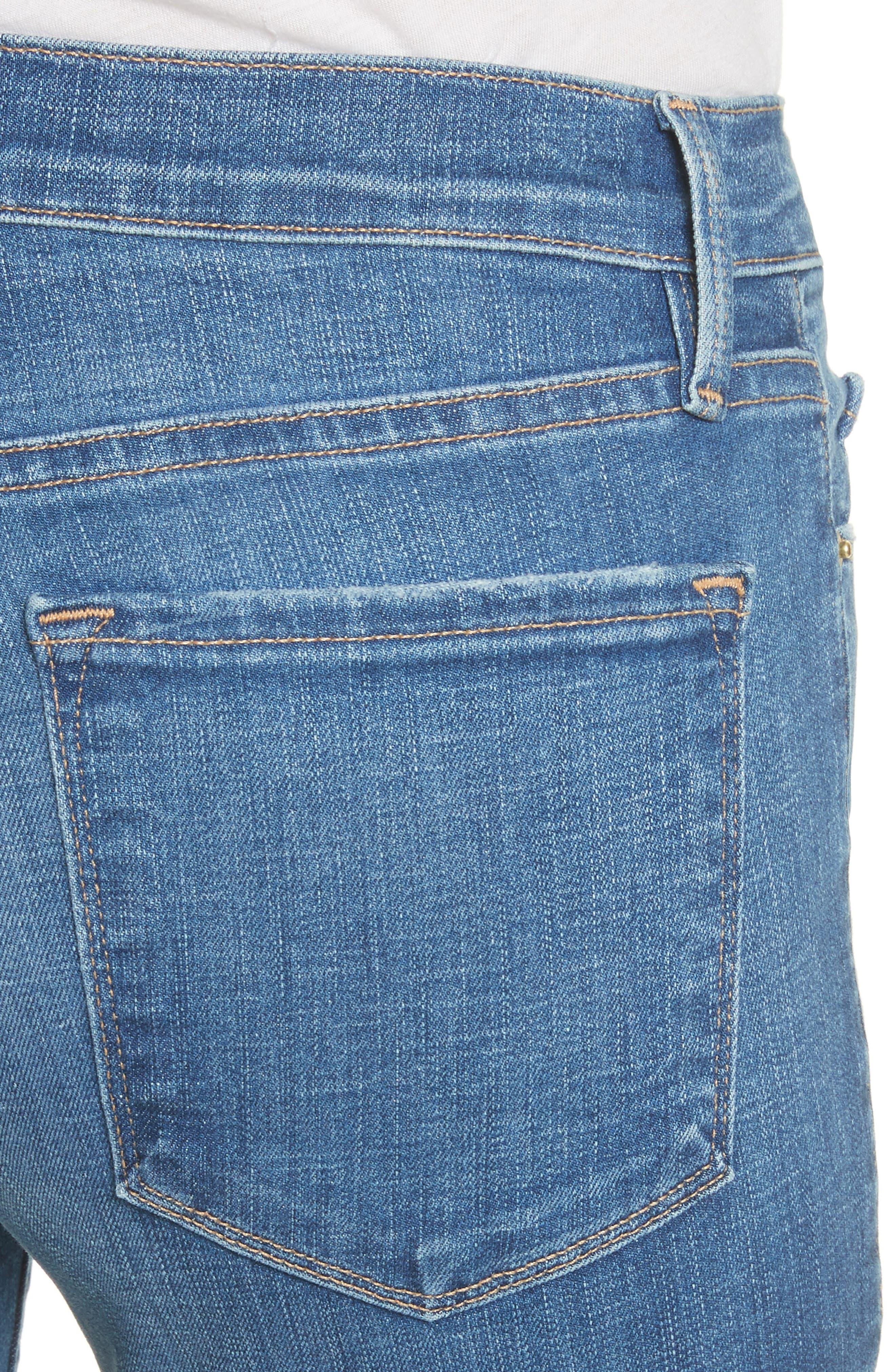 Le Skinny de Jeanne Double Hem Crop Jeans,                             Alternate thumbnail 4, color,                             420