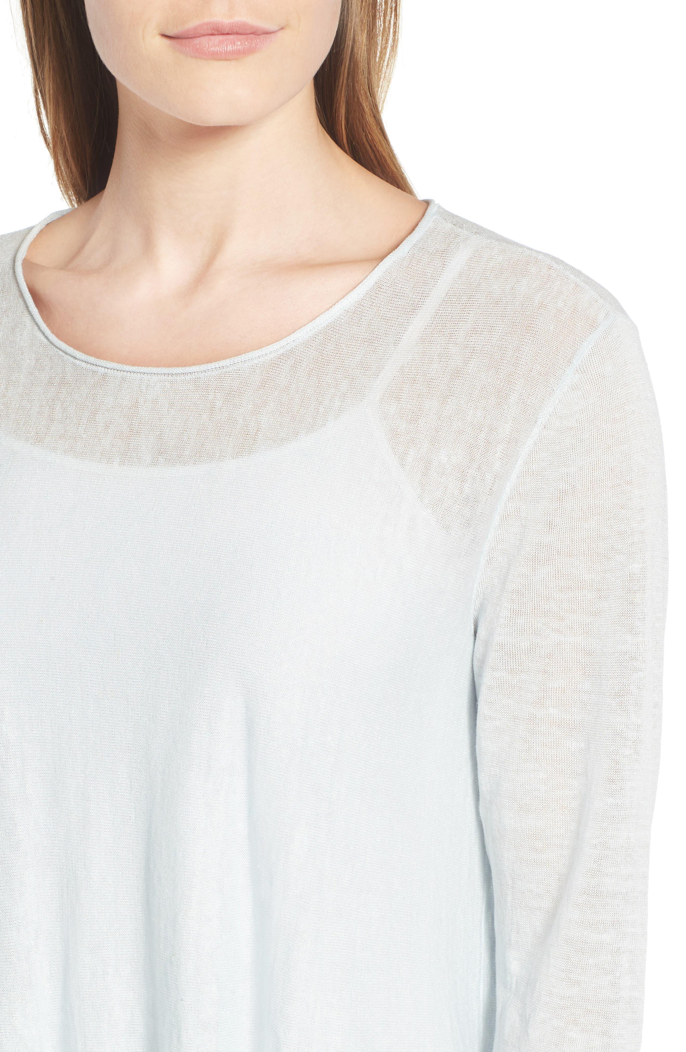 Organic Linen Blend Swing Sweater,                             Alternate thumbnail 35, color,