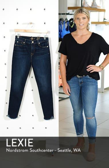Scallop Hem Ankle Skinny Jeans, sales video thumbnail