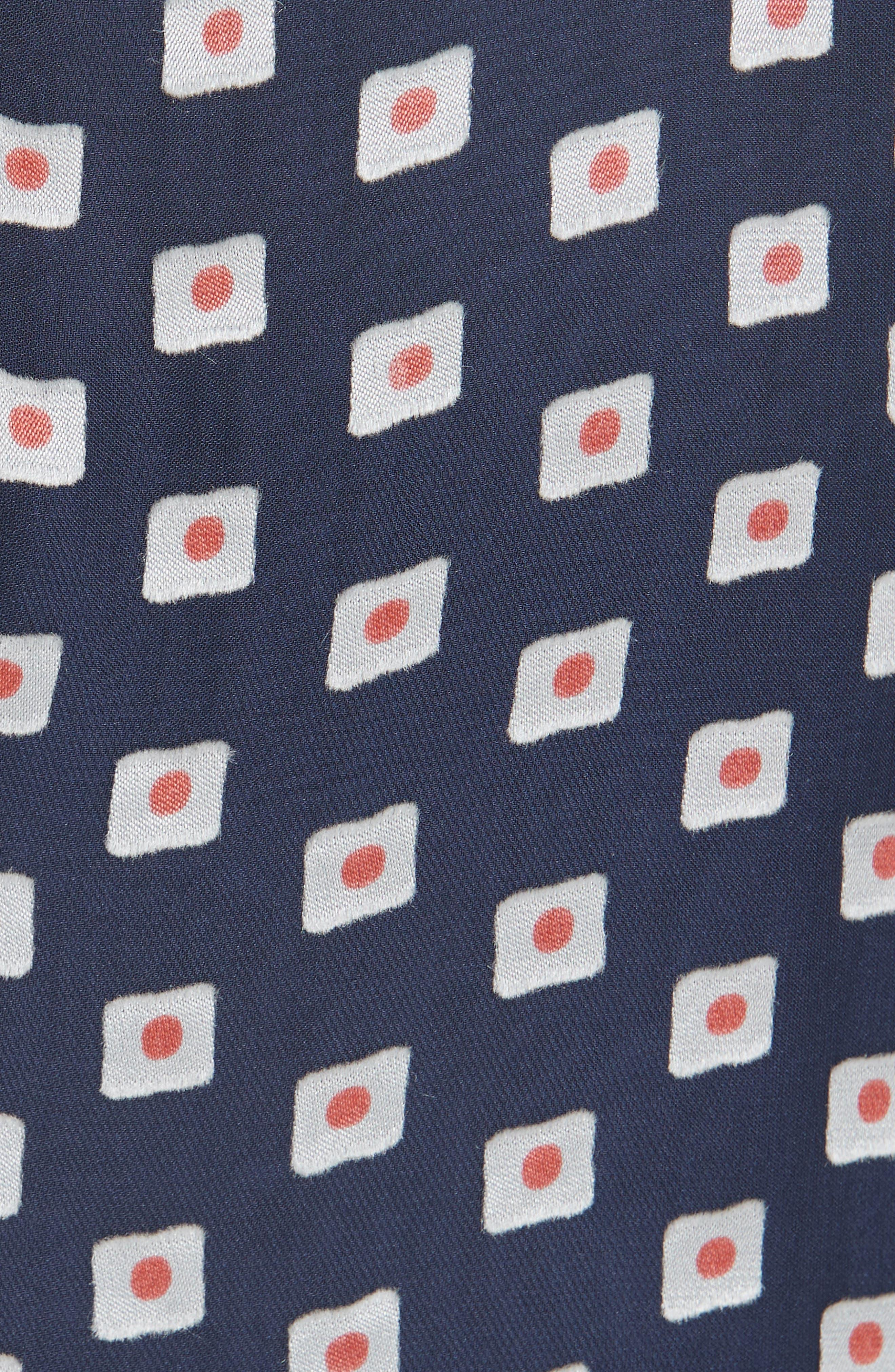 Olivia Silk Blend Midi Dress,                             Alternate thumbnail 5, color,                             410