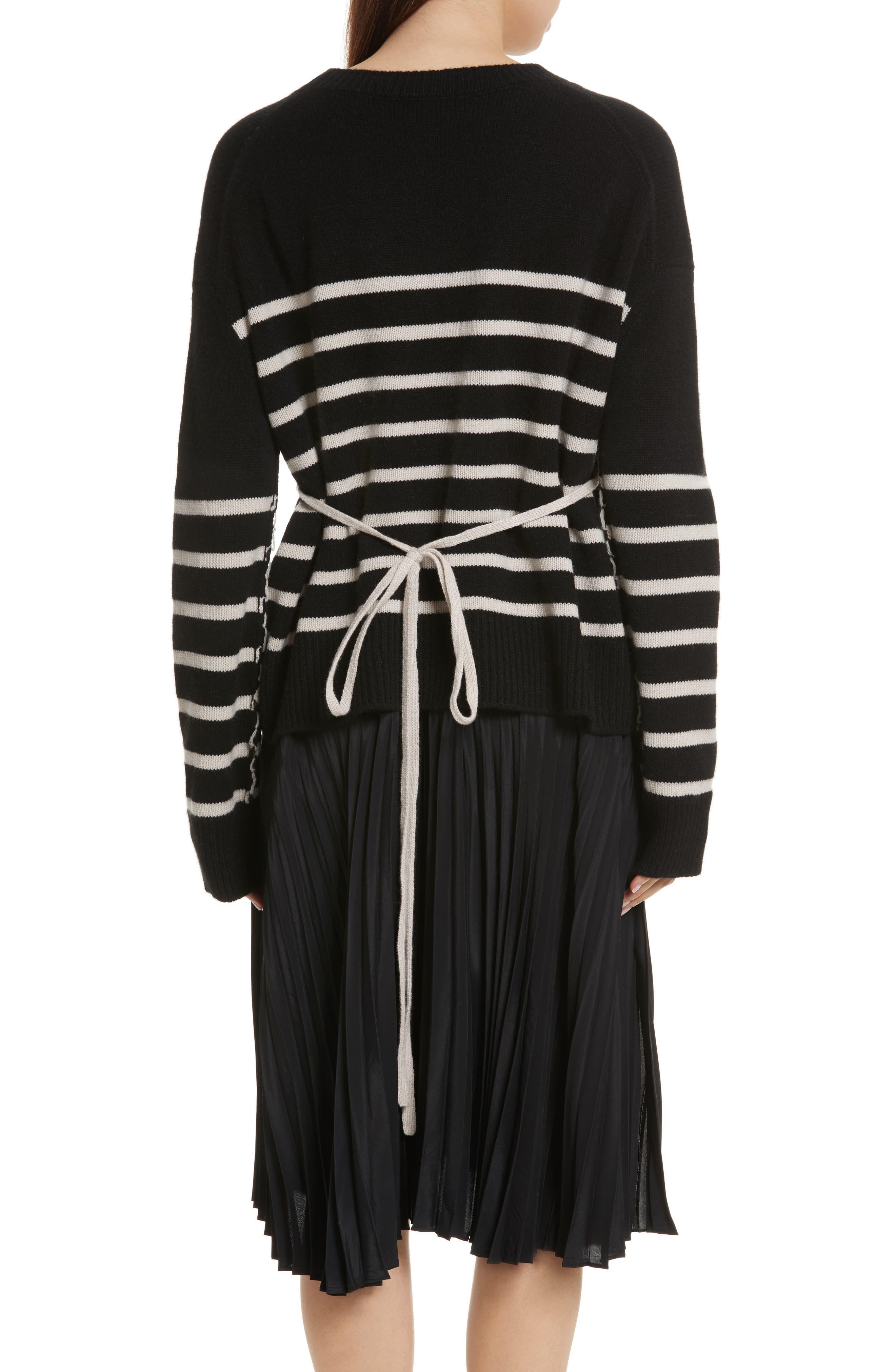 Cashmere Stripe Boxy Crew Sweater,                             Alternate thumbnail 2, color,                             006