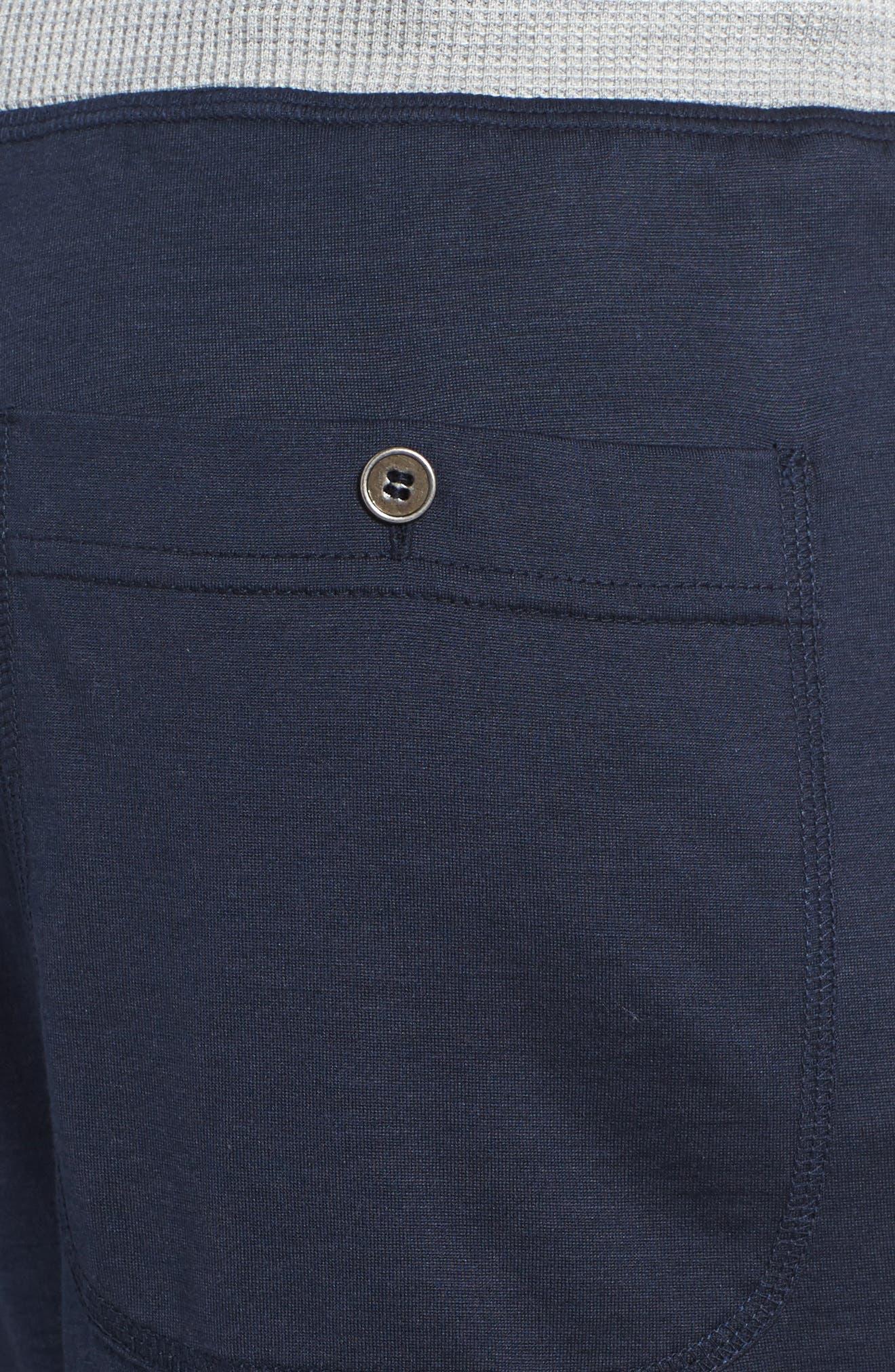 Silk & Cotton Lounge Shorts,                             Alternate thumbnail 4, color,                             409