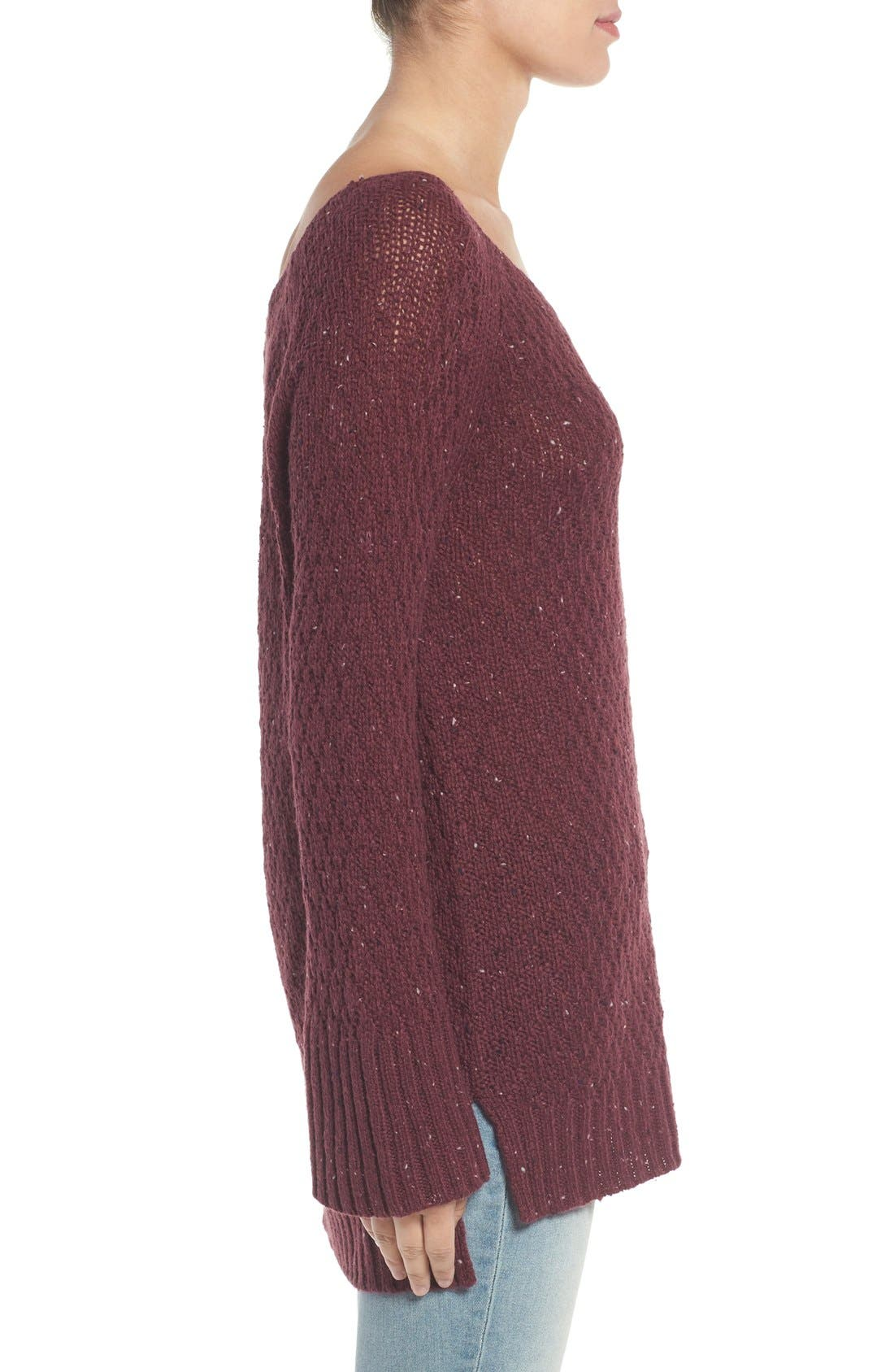 Slouchy Tunic Sweater,                             Alternate thumbnail 12, color,