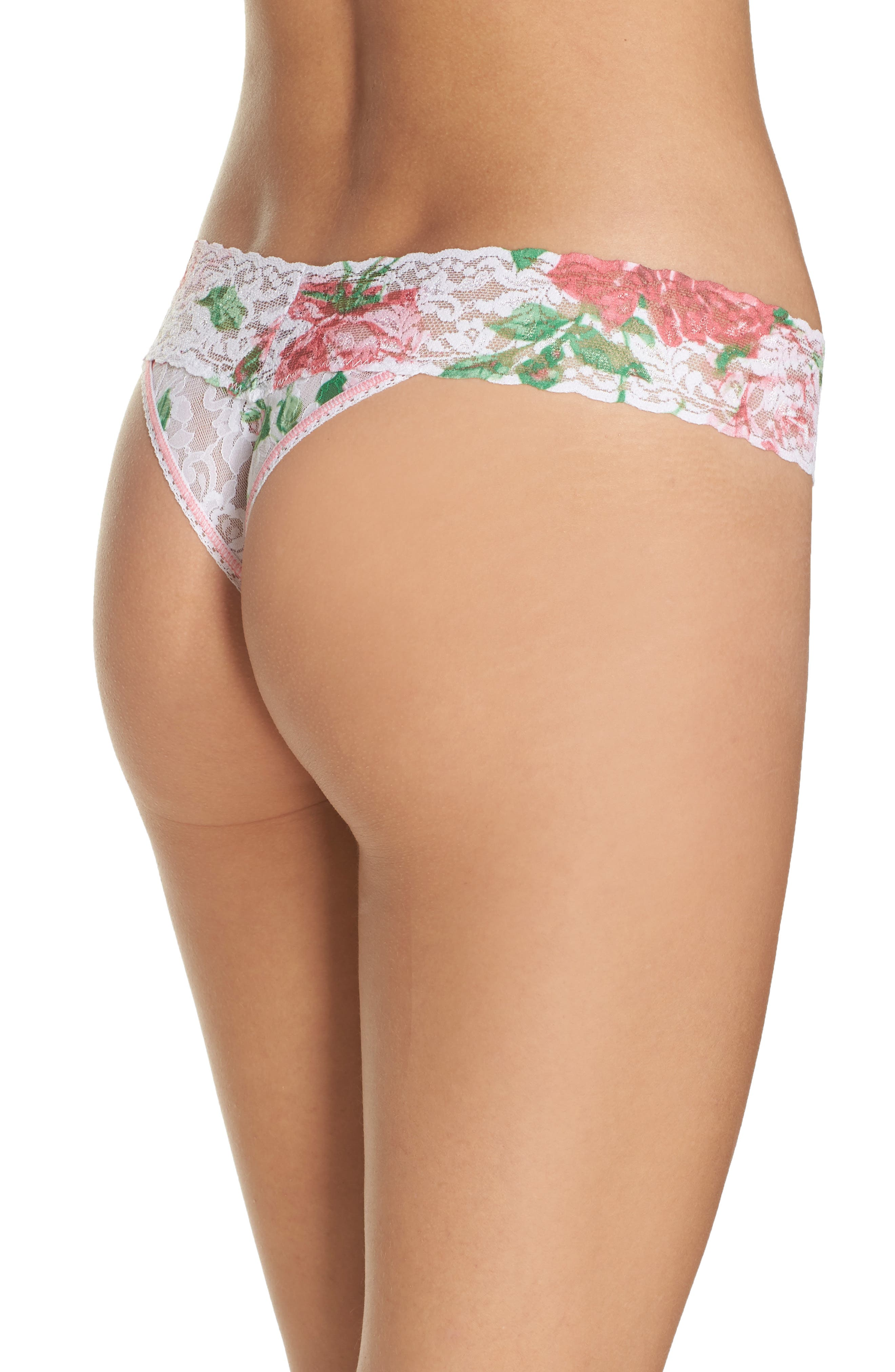Print Low Rise Thong,                             Alternate thumbnail 22, color,