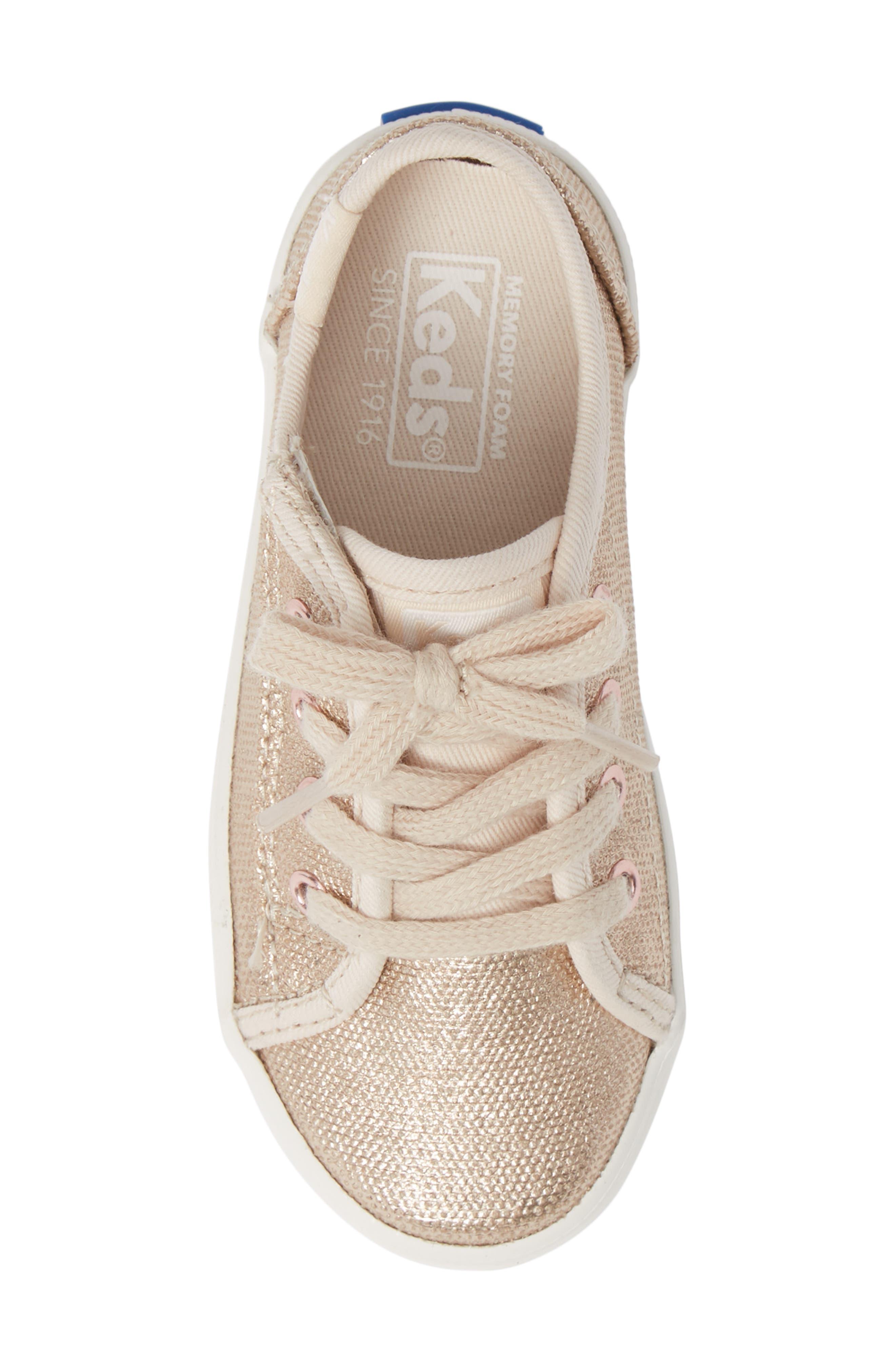 Kickstart Core Metallic Sneaker,                             Alternate thumbnail 5, color,                             ROSE GOLD
