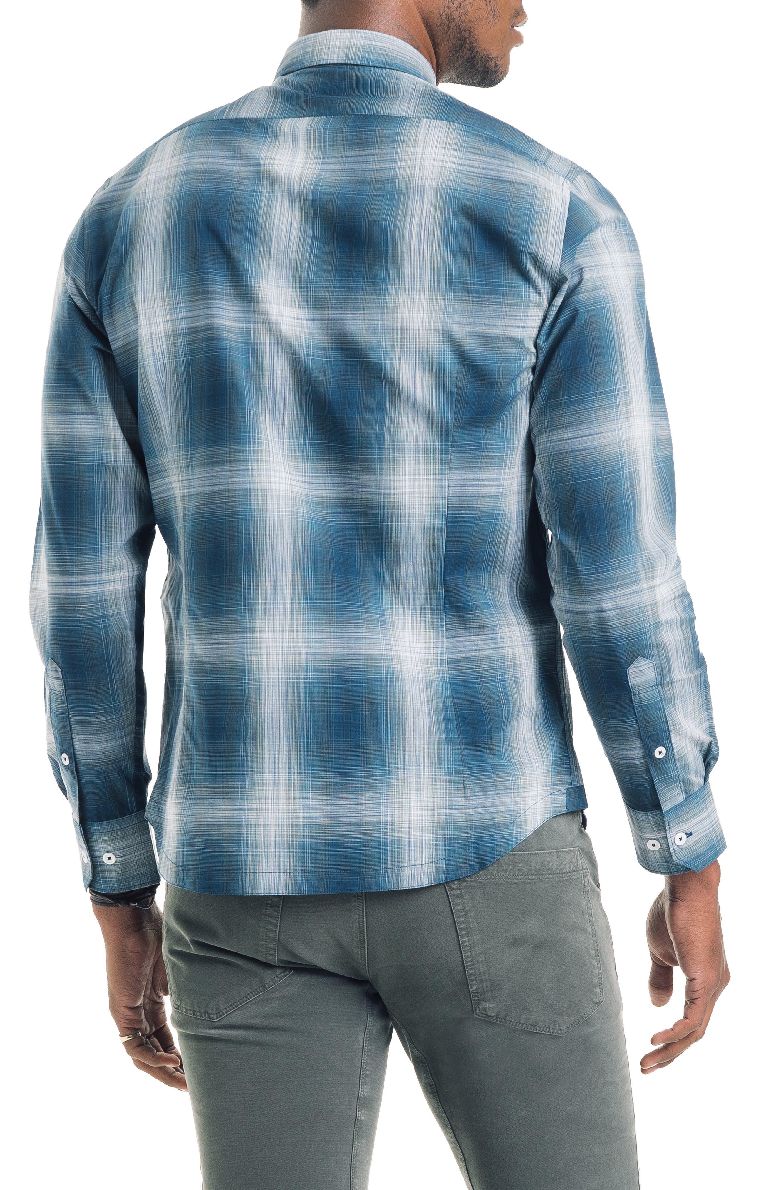 Bonsai Slim Fit Sport Shirt,                             Alternate thumbnail 2, color,                             SEA