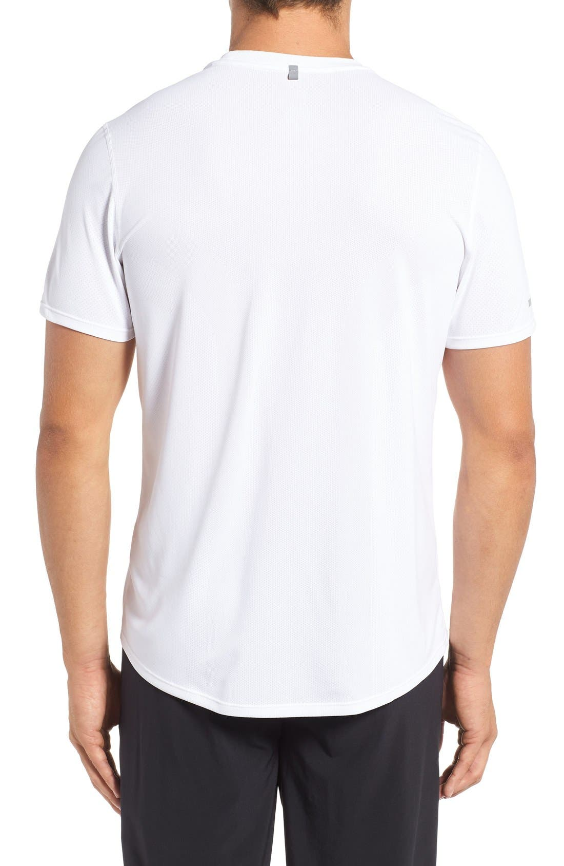 'Contour' Mesh Dri-FIT Running T-Shirt,                             Alternate thumbnail 9, color,