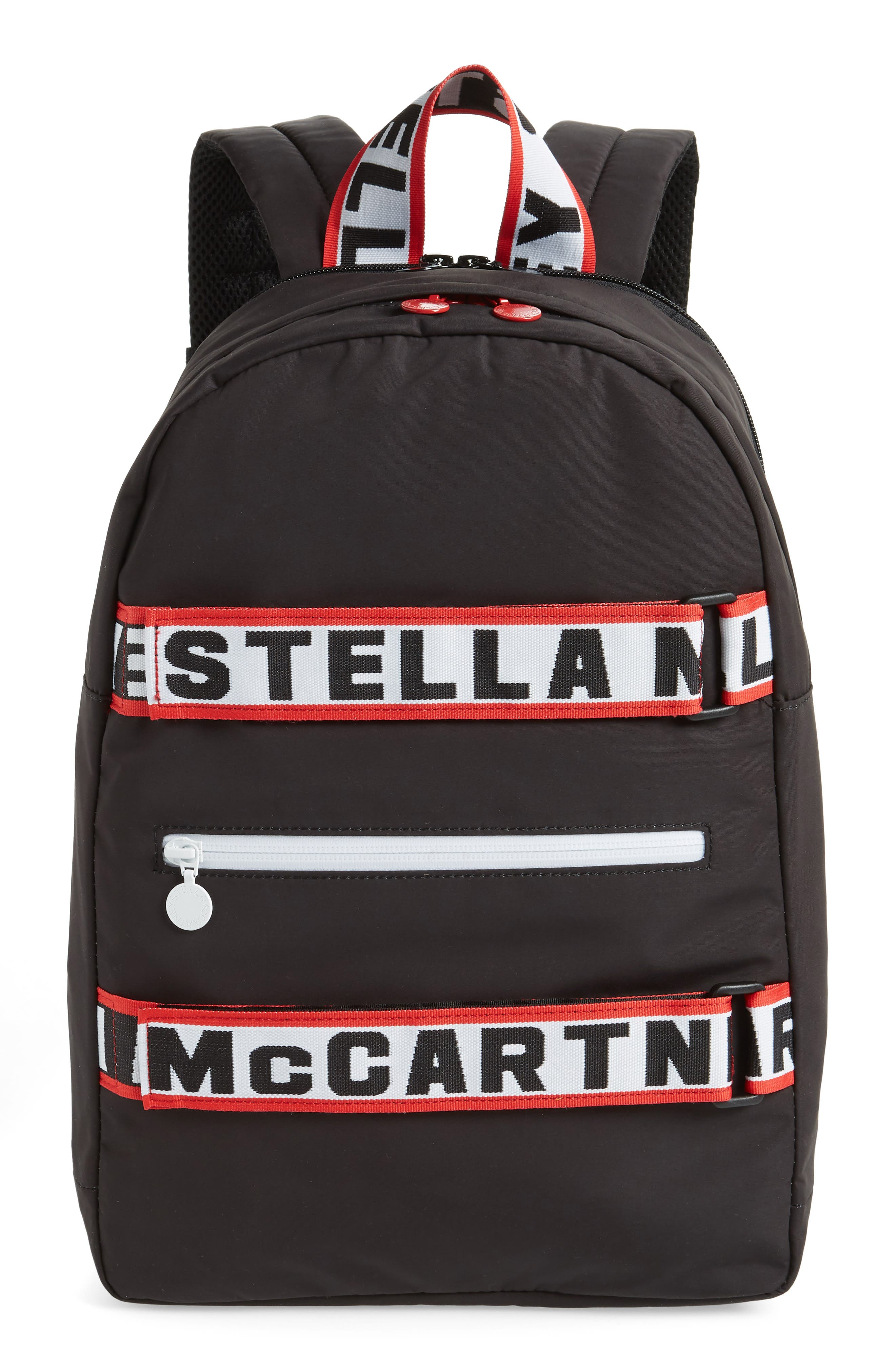 Stella Logo Backpack,                             Main thumbnail 1, color,                             BLACK
