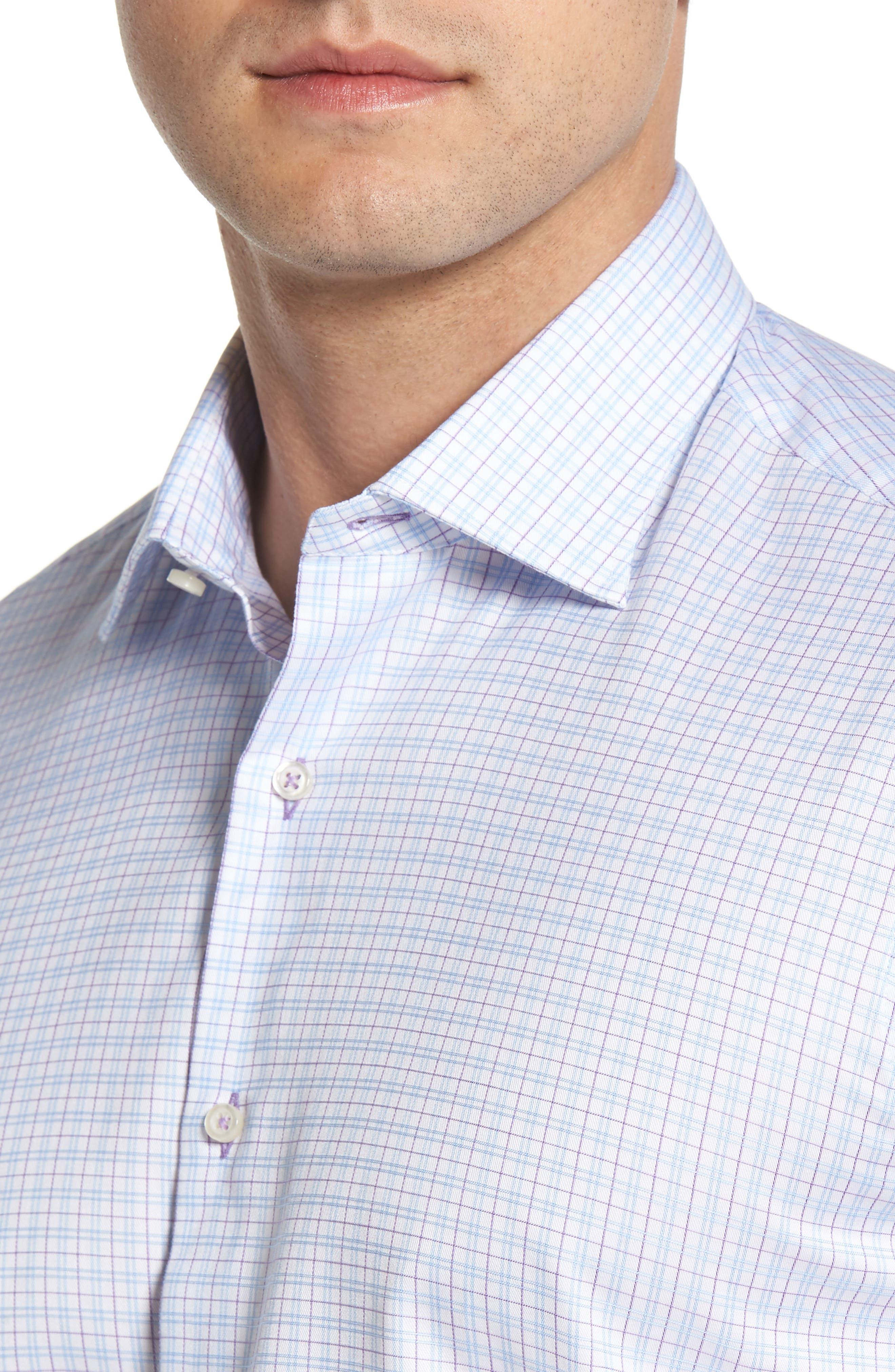 Regular Fit Check Dress Shirt,                             Alternate thumbnail 2, color,                             WHITE MULTI