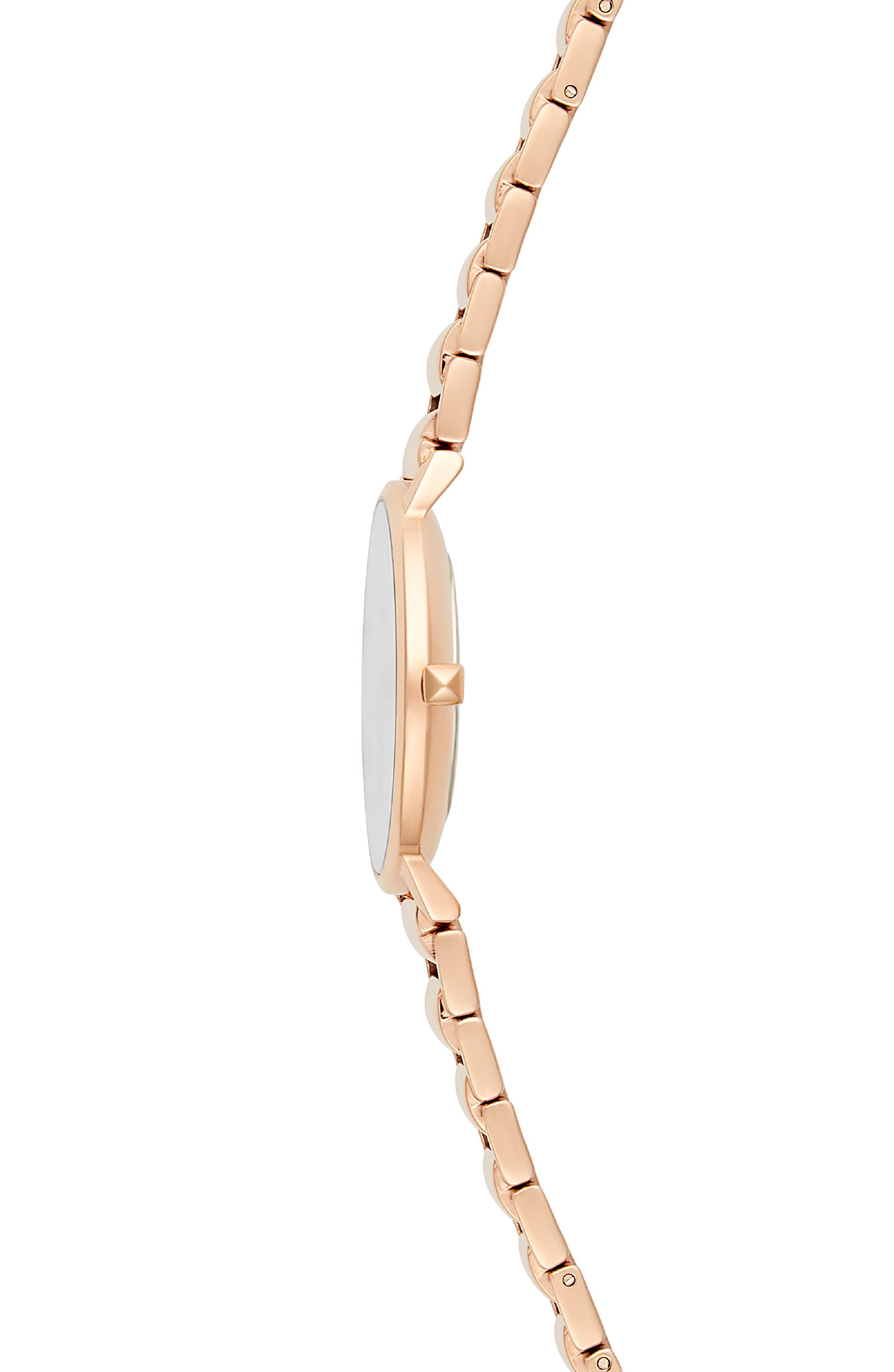 Major Bracelet Watch, 35mm,                             Alternate thumbnail 3, color,                             ROSE GOLD/ GREY / ROSE GOLD