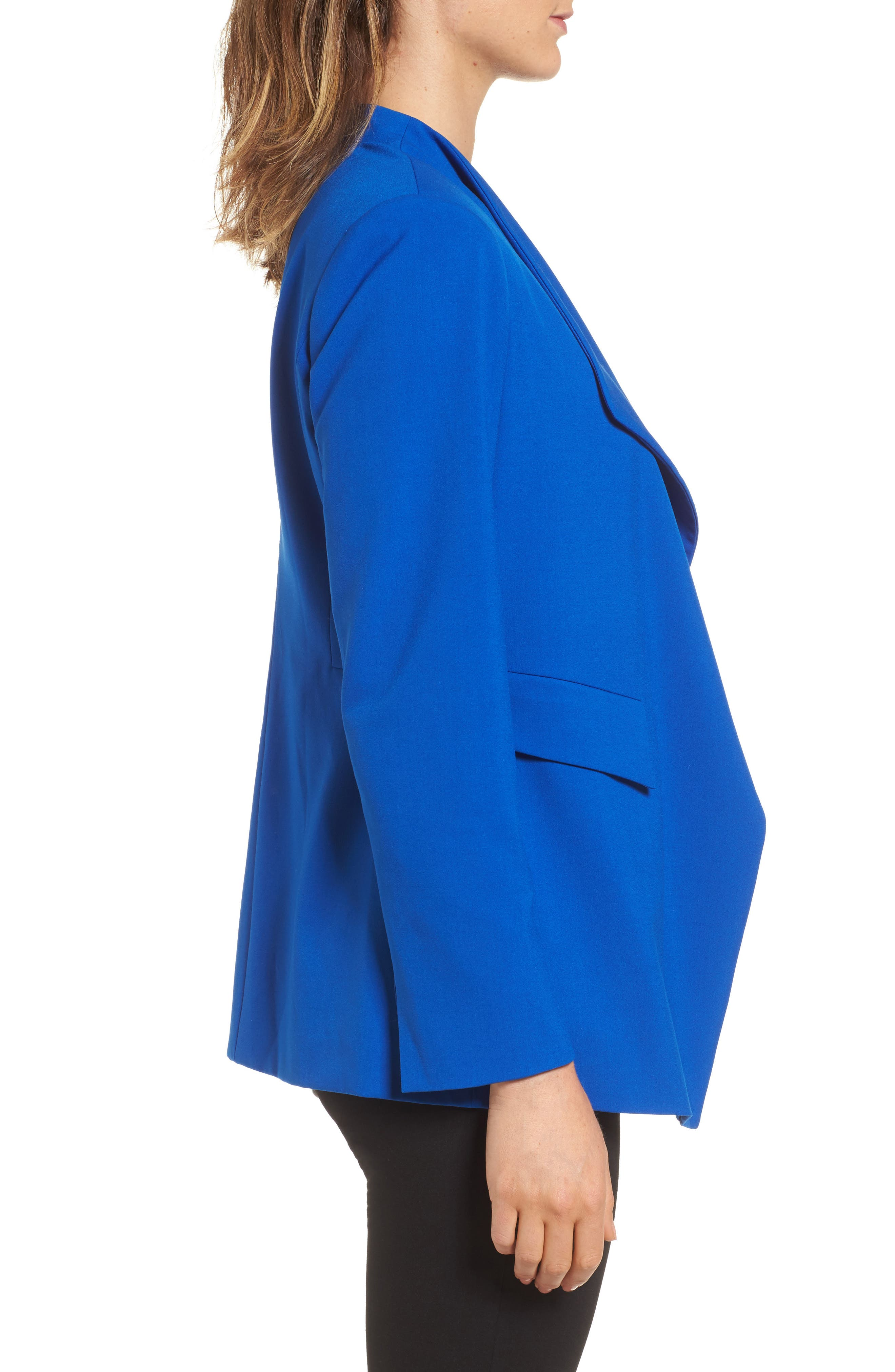 Drape Front Jacket,                             Alternate thumbnail 3, color,