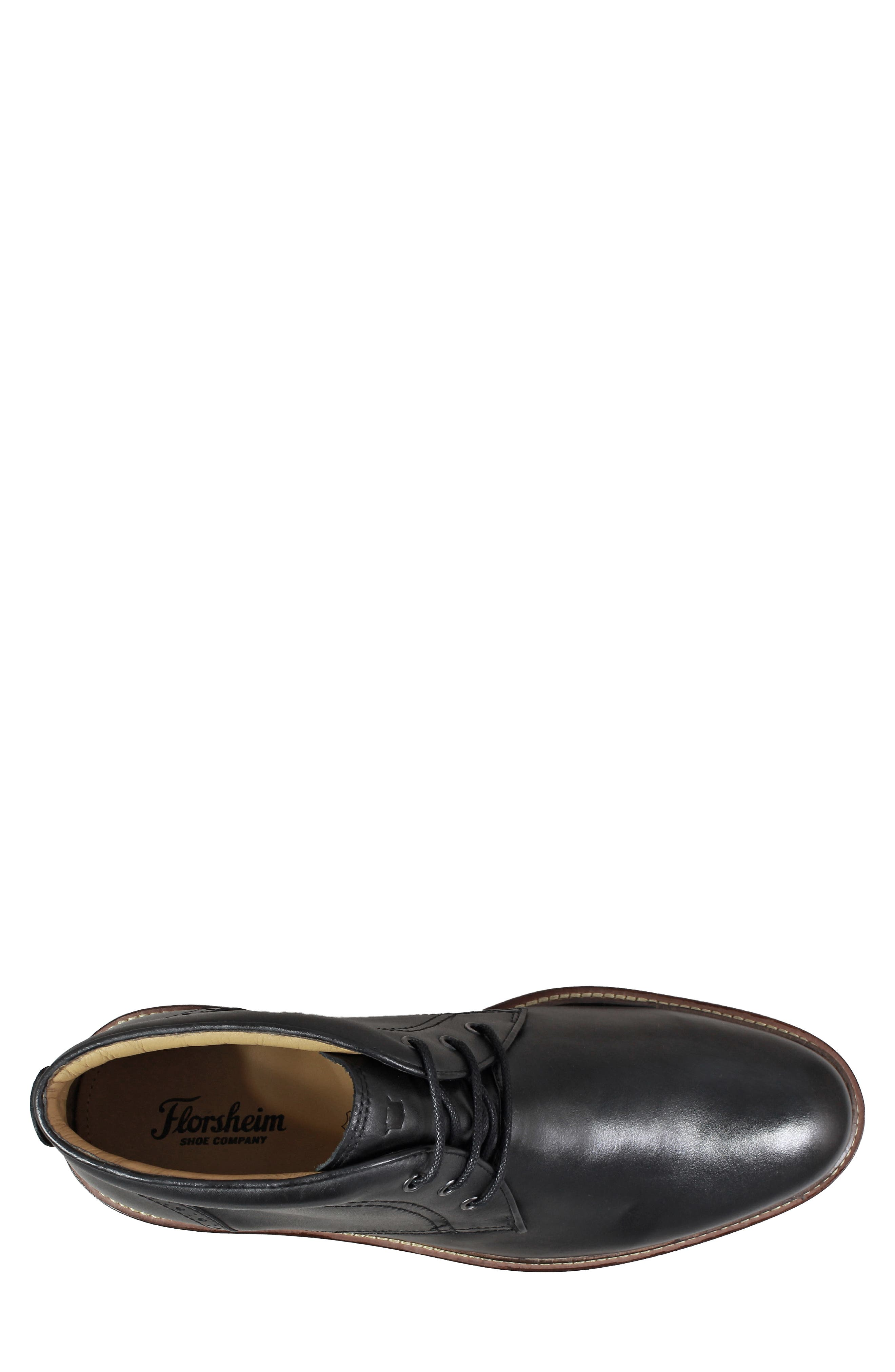 Estabrook Lugged Chukka Boot,                             Alternate thumbnail 5, color,                             BLACK LEATHER