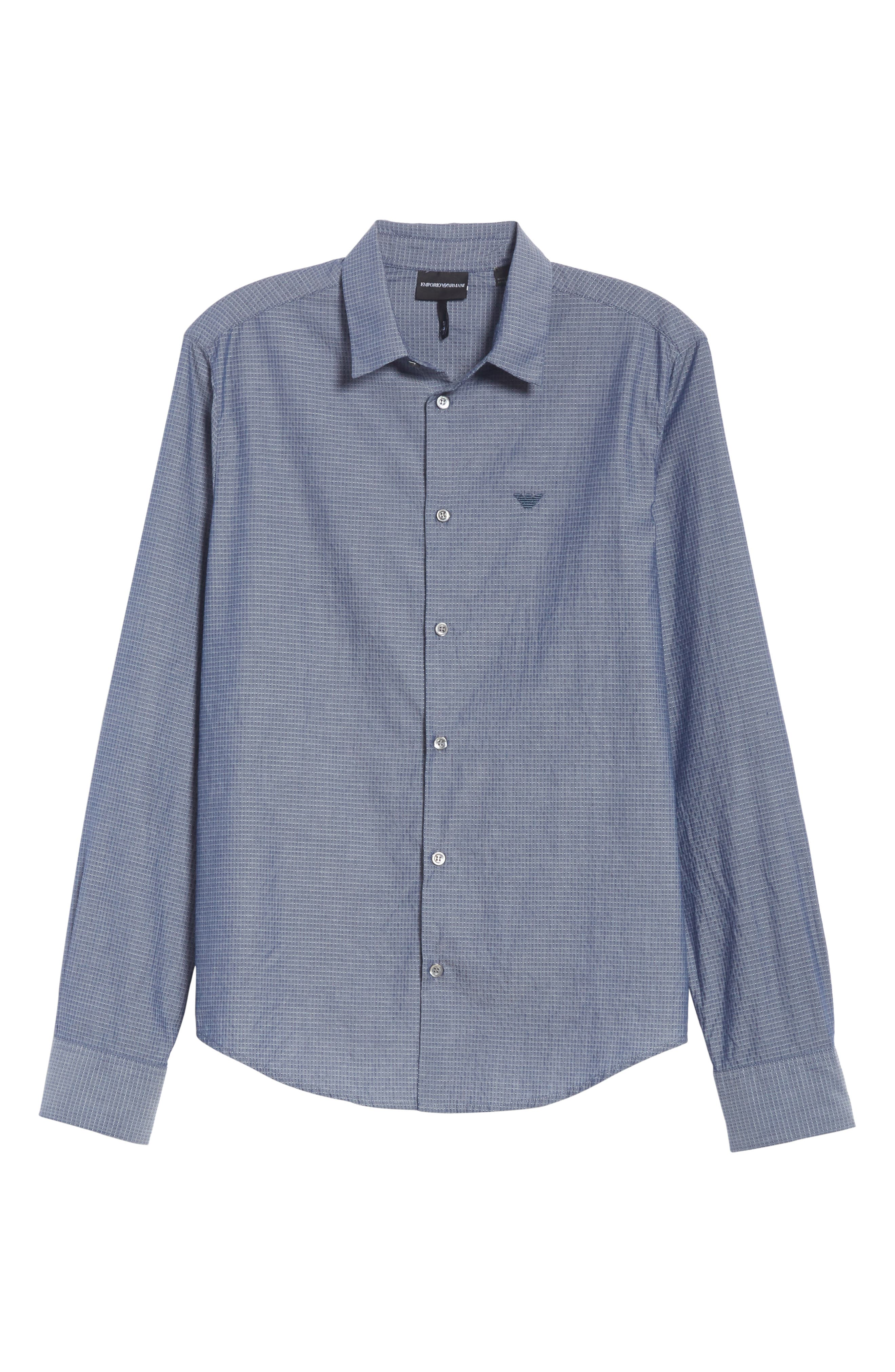Slim Fit Solid Sport Shirt,                             Alternate thumbnail 6, color,                             BLUE MULTI