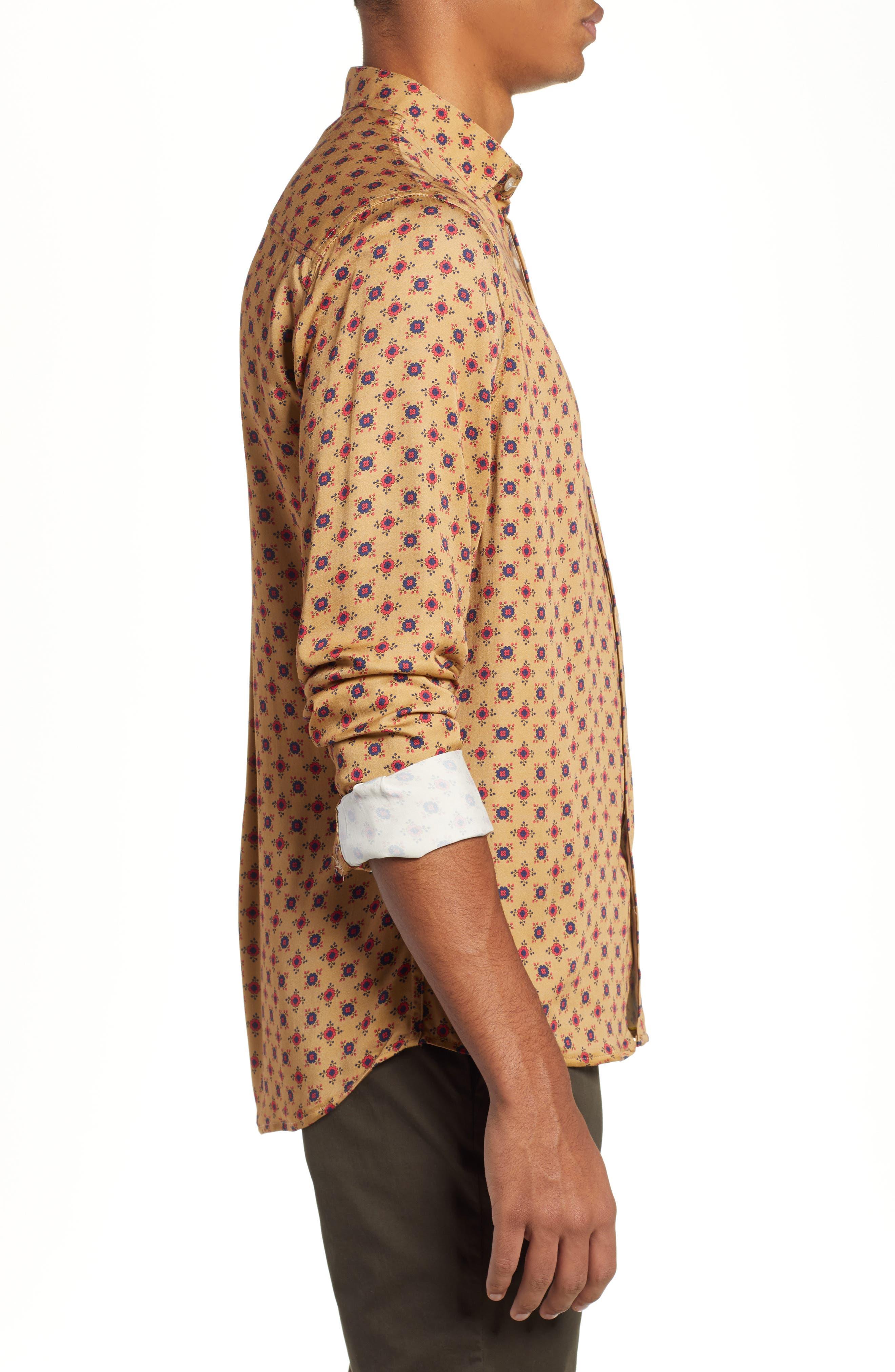 Nonna Wall Long Sleeve Woven Shirt,                             Alternate thumbnail 4, color,                             KHAKI