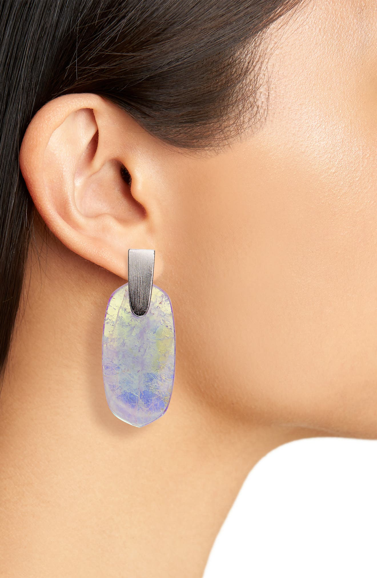 Aragon Drop Earrings,                             Alternate thumbnail 2, color,                             AMETHYST DICHROIC/ SILVER