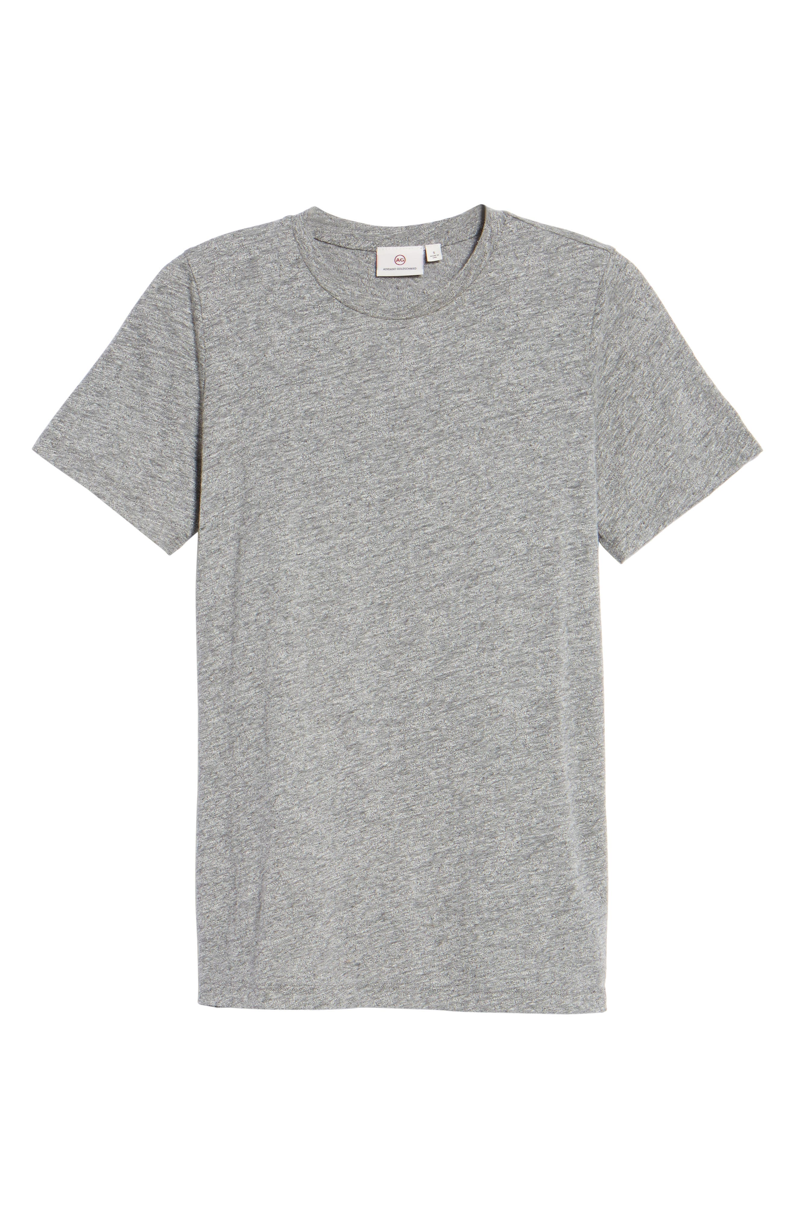 Gray Boyfriend Tee,                             Alternate thumbnail 6, color,                             SPECKLED HEATHER GREY