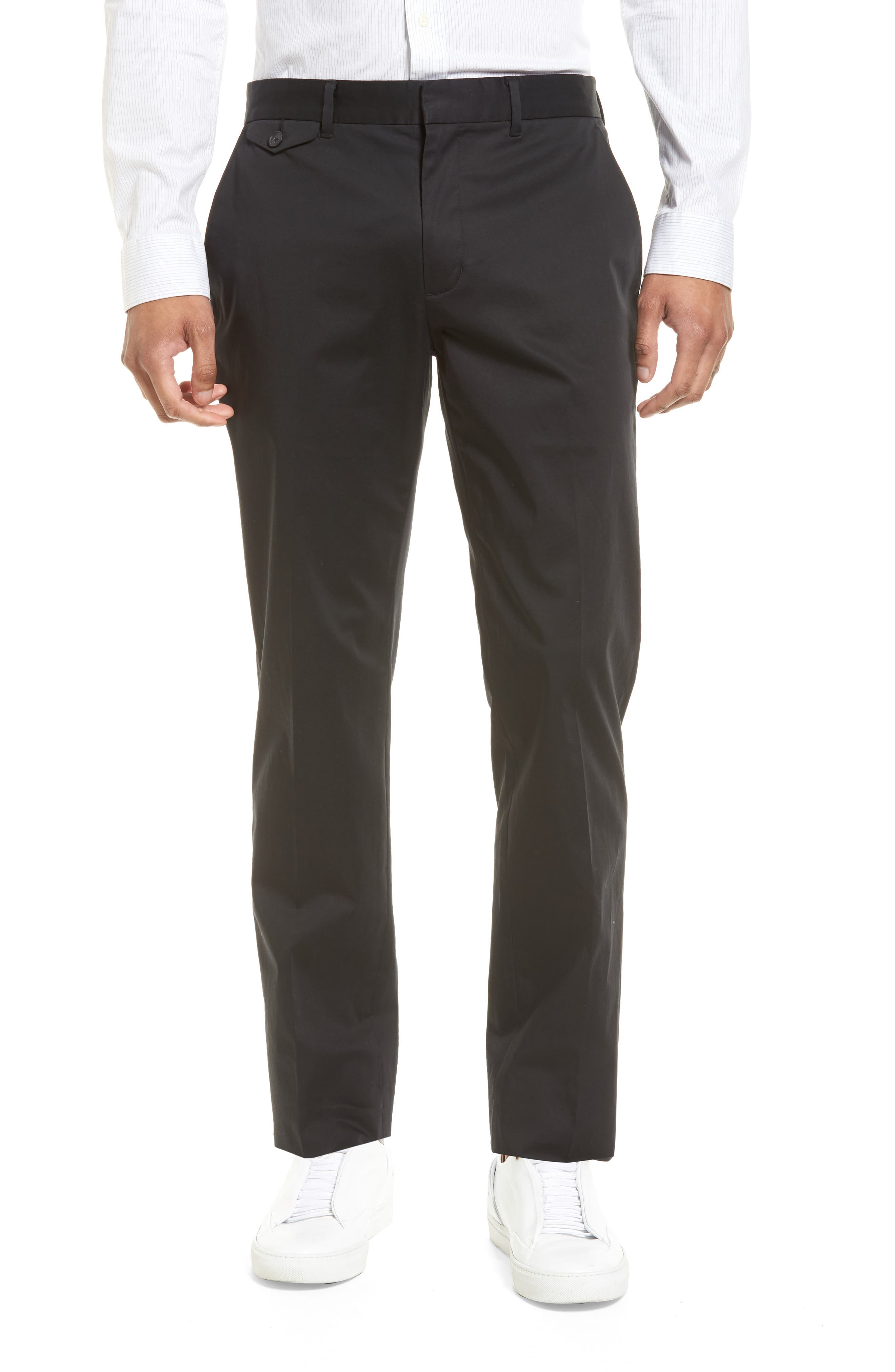 Officer Flat Front Chino Pants,                         Main,                         color, 001