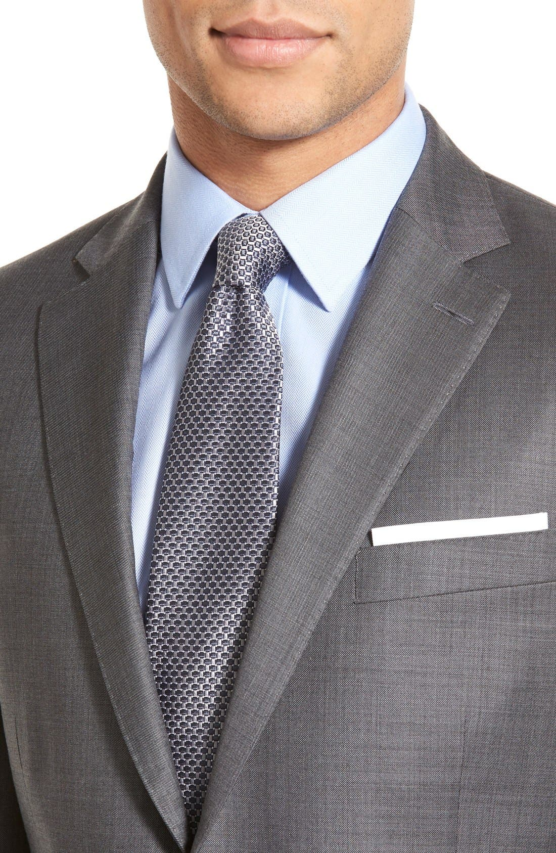 Classic Fit Solid Wool Suit,                             Alternate thumbnail 3, color,                             CHARCOAL