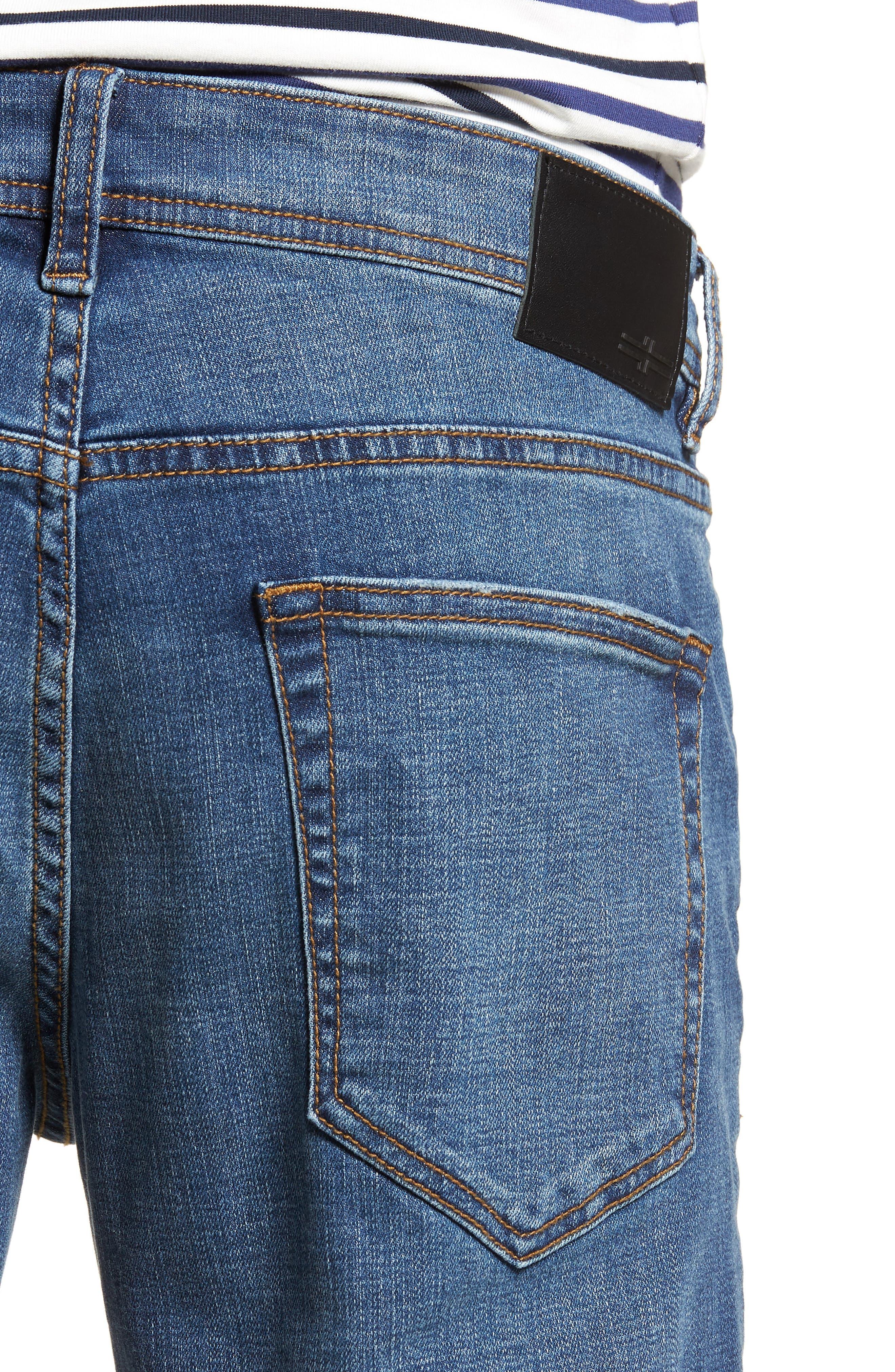 Jeans Co. Kingston Slim Straight Leg Jeans,                             Alternate thumbnail 4, color,                             HIGHLANDER MID