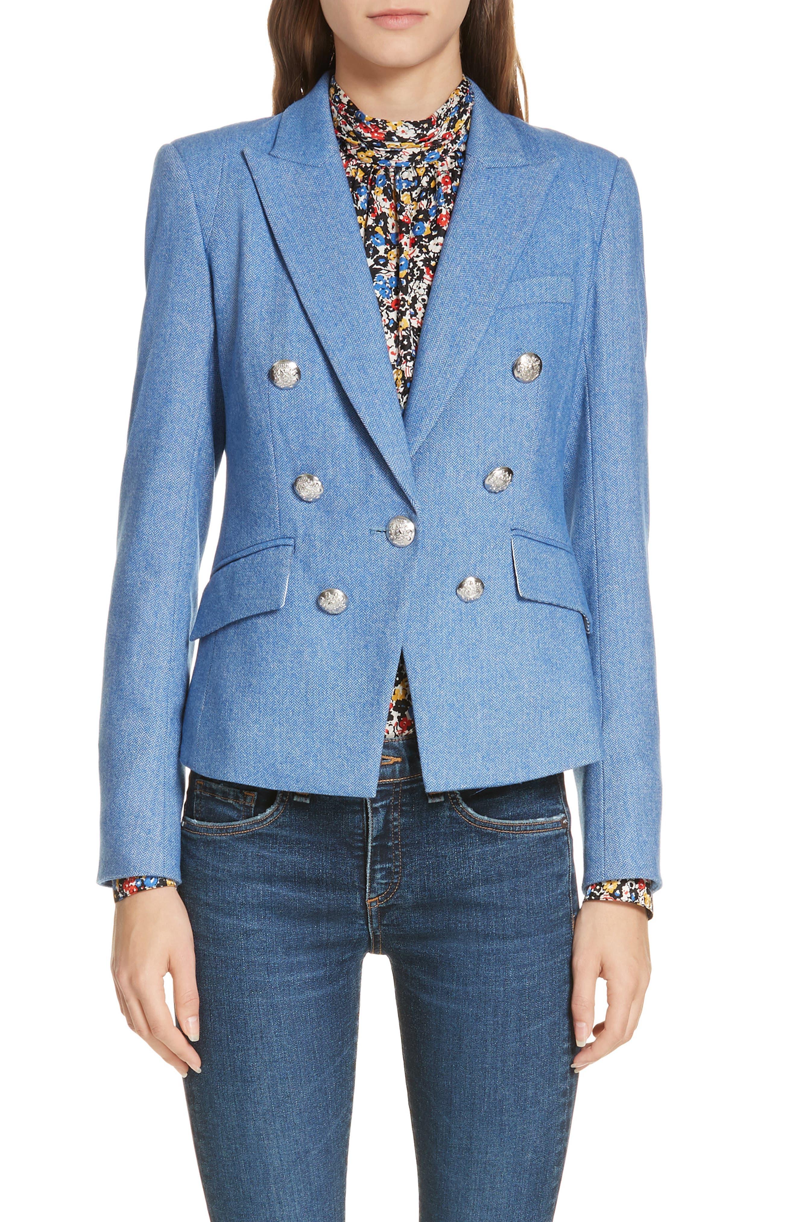 Diego Herringbone Dickey Jacket,                         Main,                         color, BLUE
