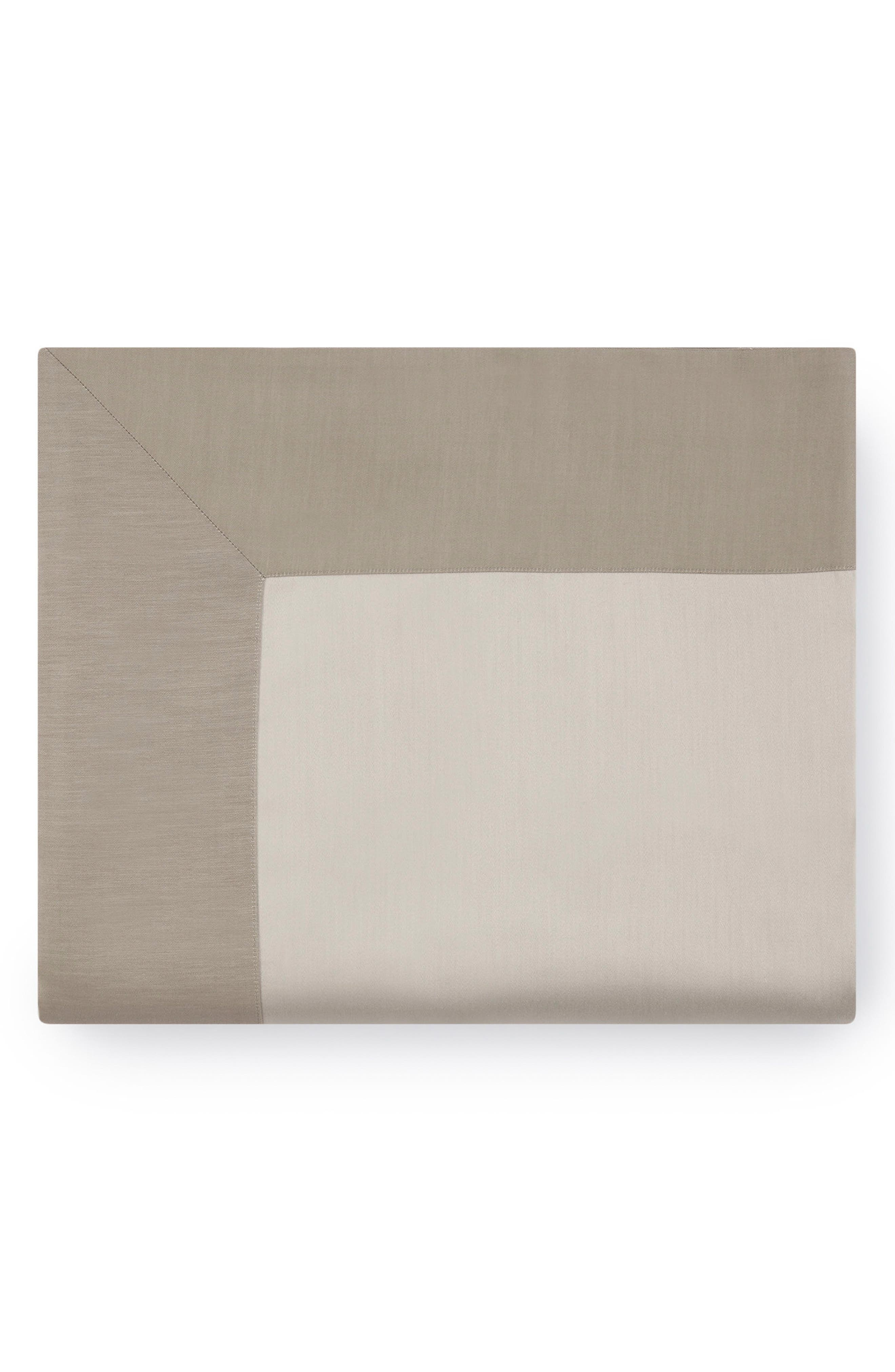 Larro 420 Thread Count Flat Sheet,                             Main thumbnail 1, color,                             NOUGAT