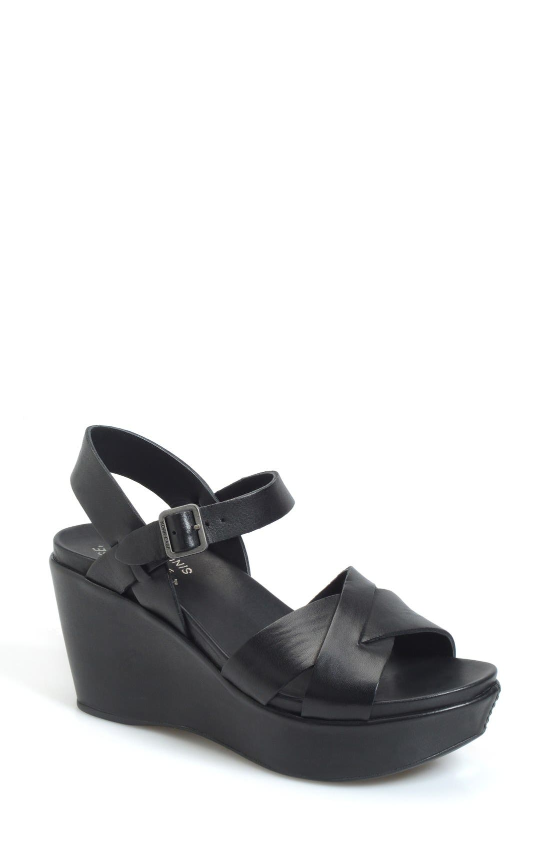'Ava 2.0' Platform Wedge Sandal,                         Main,                         color, BLACK