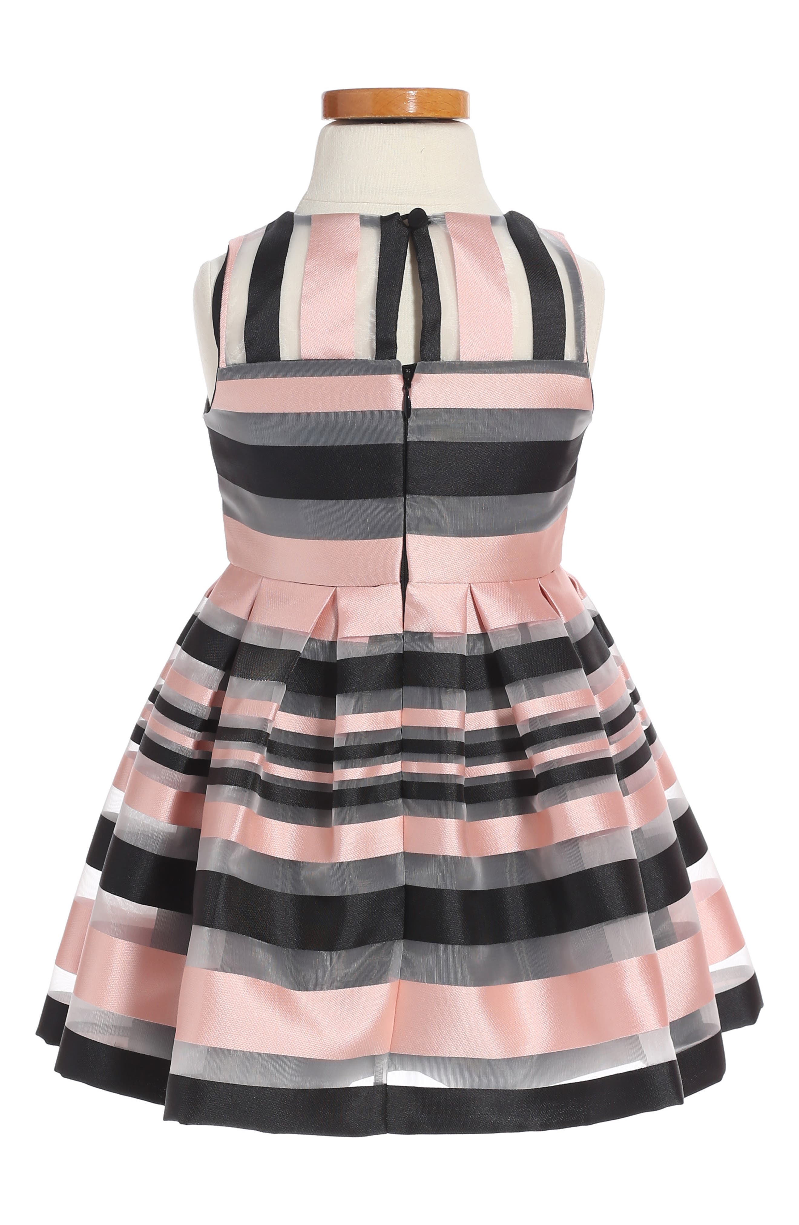 Illusion Stripe Sleeveless Dress,                             Alternate thumbnail 2, color,                             660